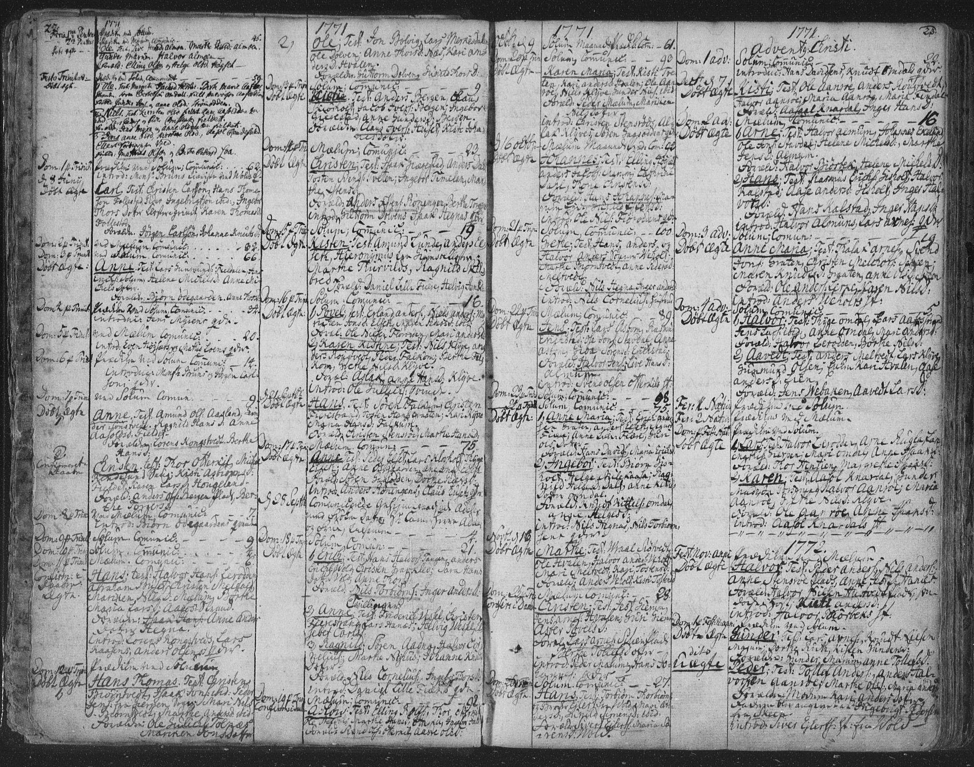 SAKO, Solum kirkebøker, F/Fa/L0003: Ministerialbok nr. I 3, 1761-1814, s. 22-23