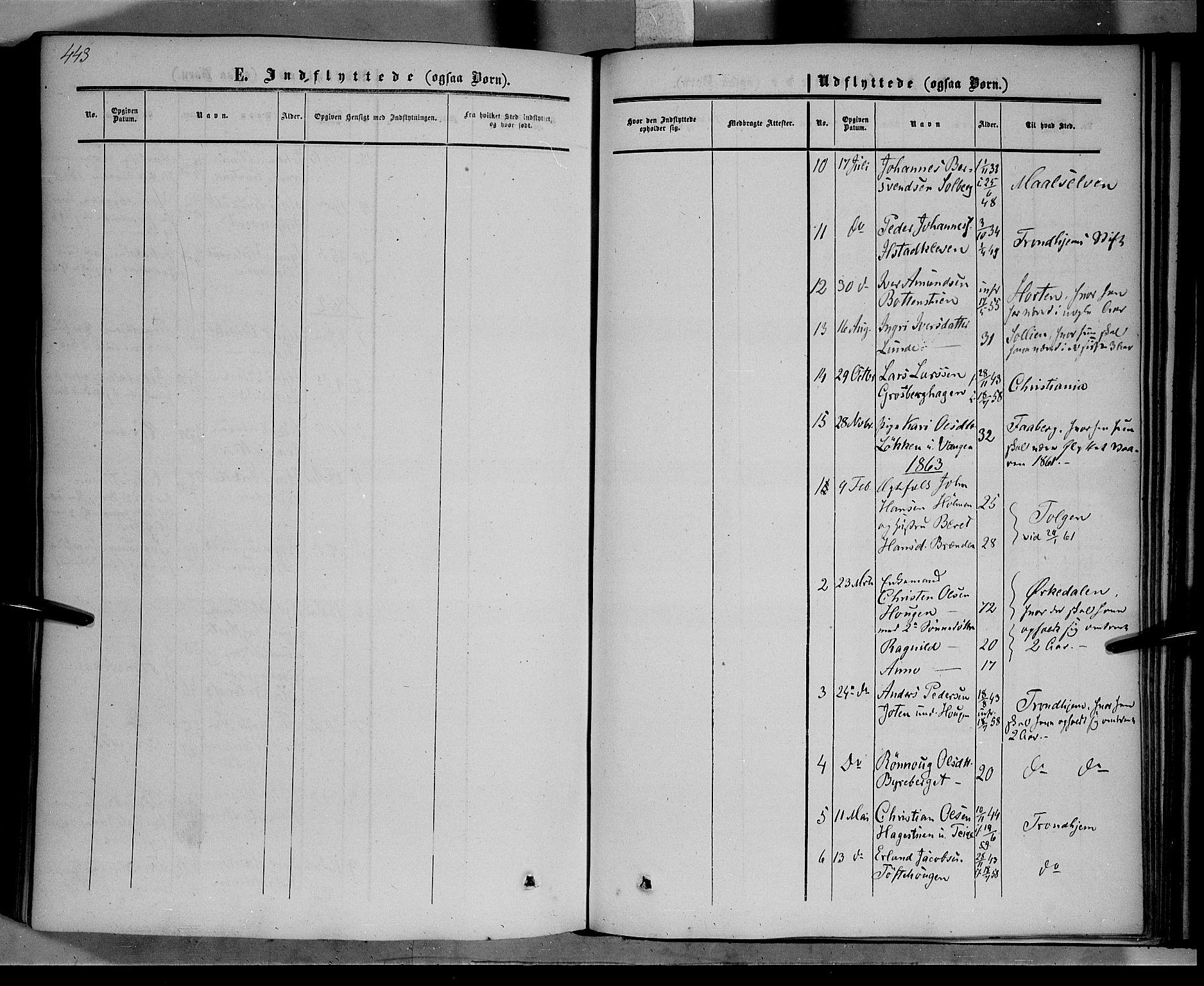 SAH, Nord-Fron prestekontor, Ministerialbok nr. 1, 1851-1864, s. 443
