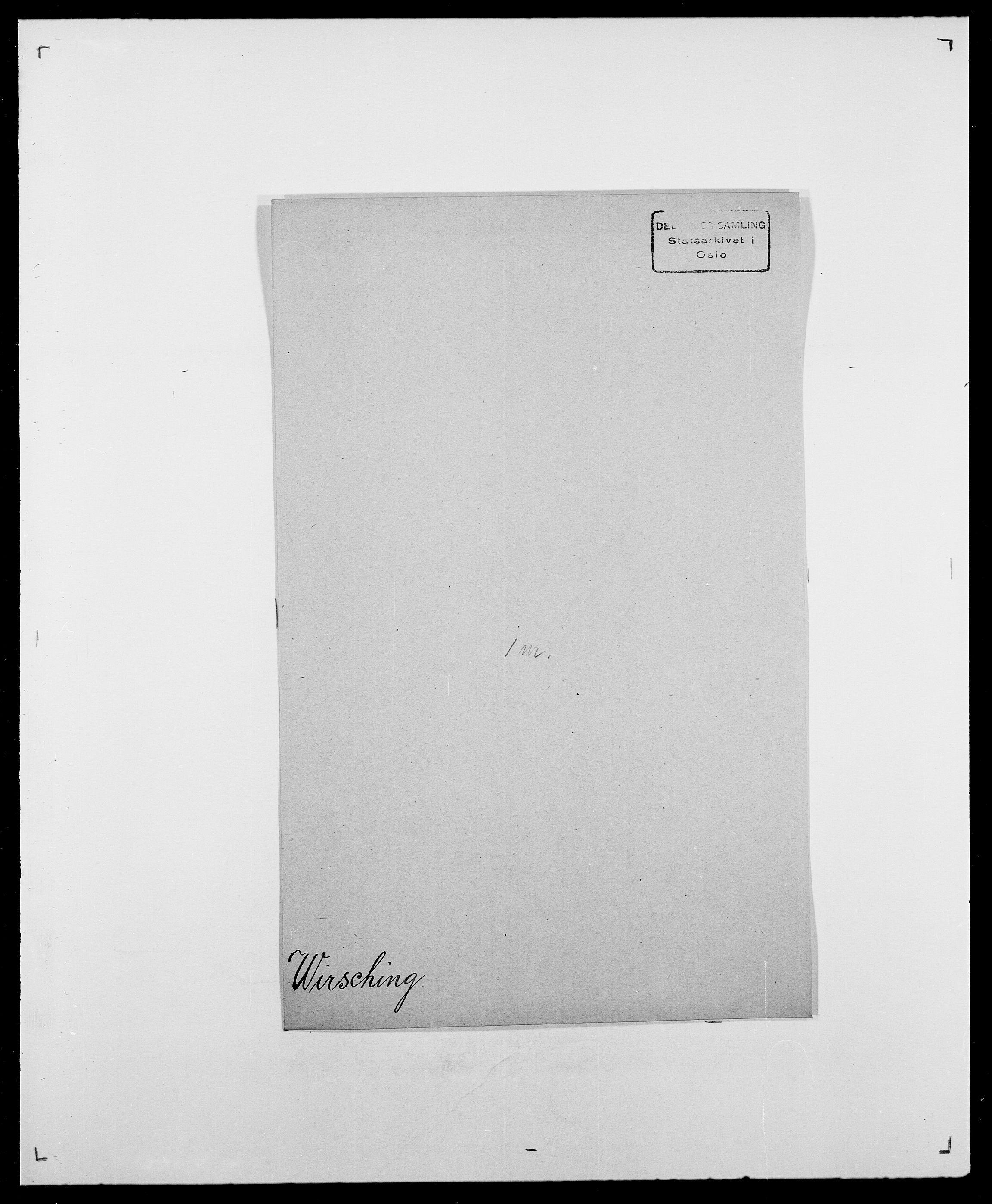 SAO, Delgobe, Charles Antoine - samling, D/Da/L0042: Vilain - Wulf, Wulff, se også Wolf, s. 374
