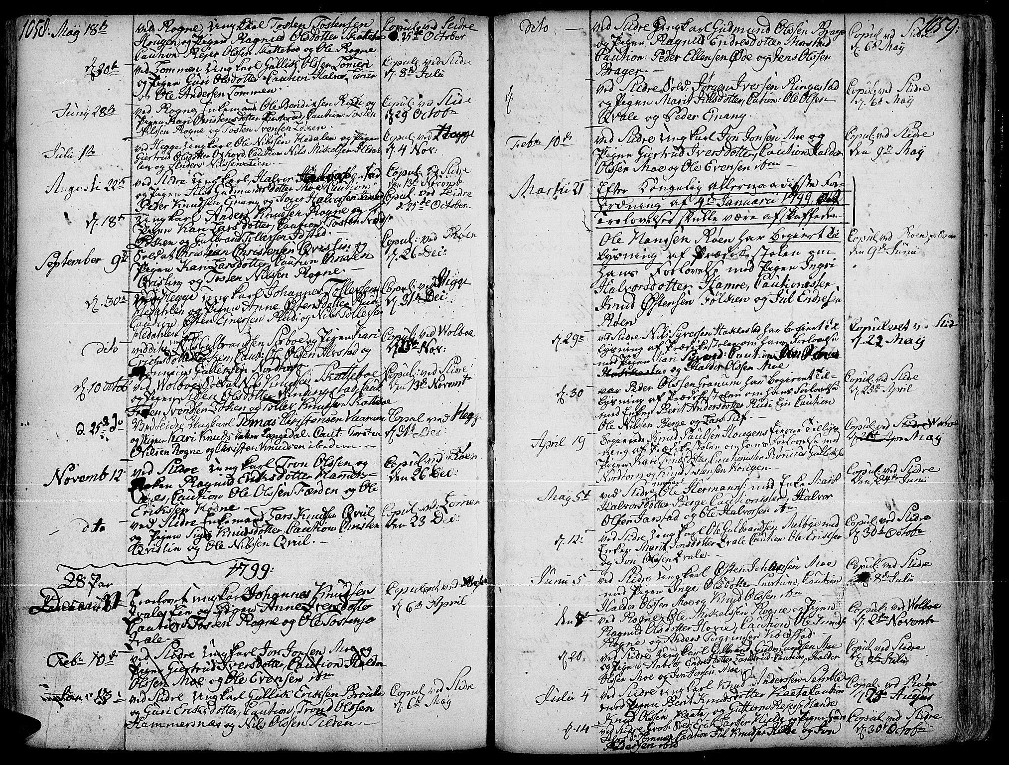 SAH, Slidre prestekontor, Ministerialbok nr. 1, 1724-1814, s. 1058-1059