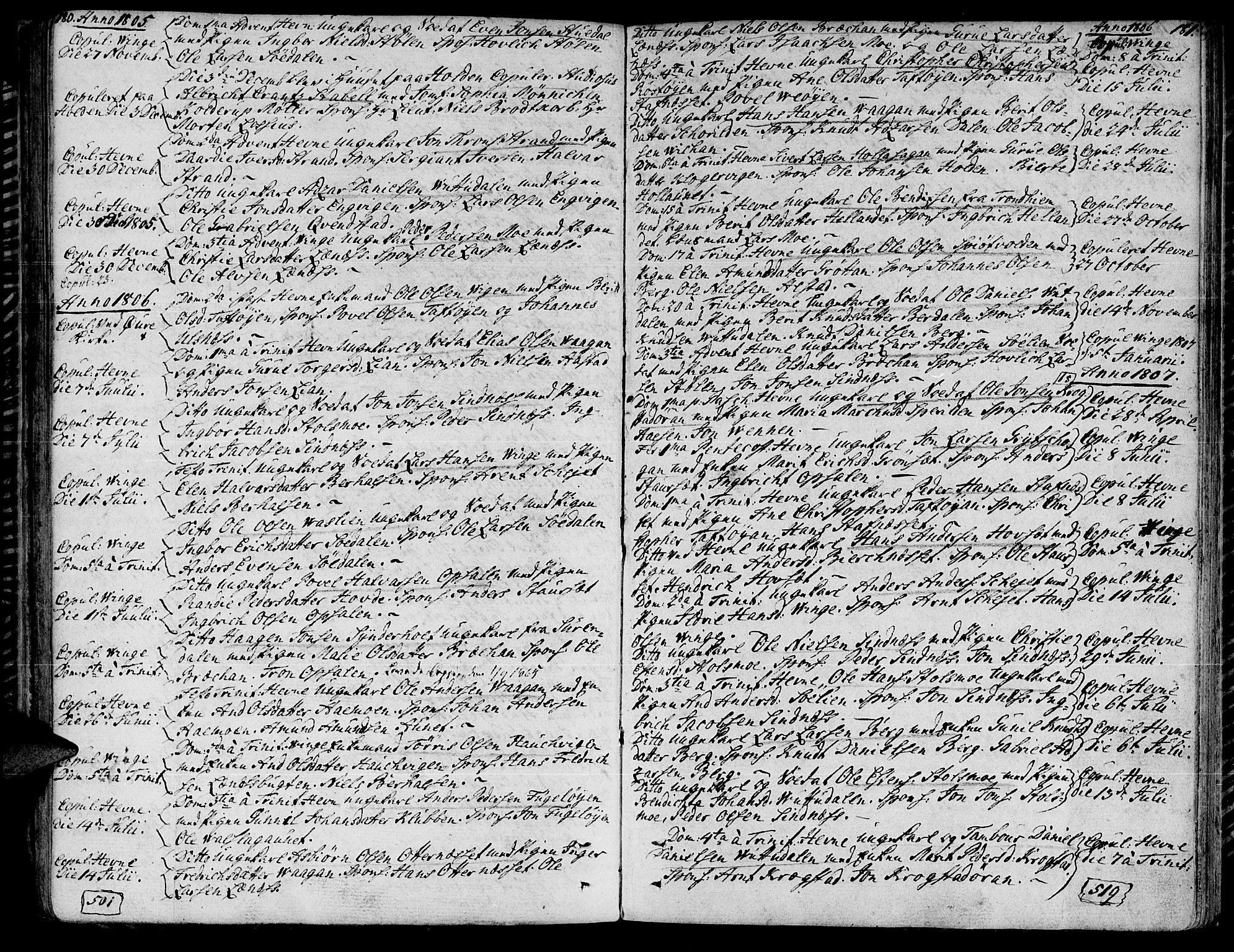 SAT, Ministerialprotokoller, klokkerbøker og fødselsregistre - Sør-Trøndelag, 630/L0490: Ministerialbok nr. 630A03, 1795-1818, s. 180-181