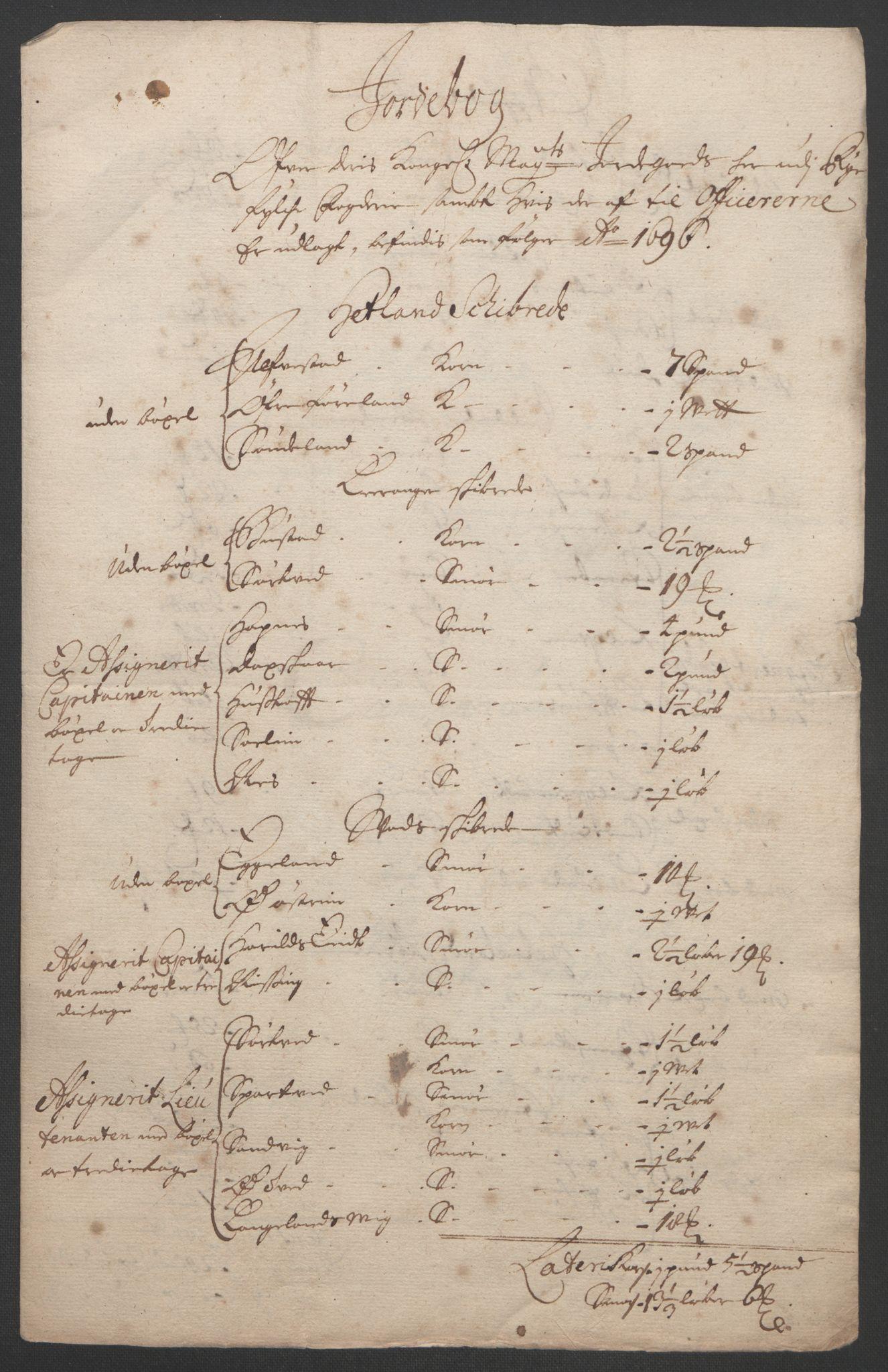 RA, Rentekammeret inntil 1814, Reviderte regnskaper, Fogderegnskap, R47/L2857: Fogderegnskap Ryfylke, 1694-1696, s. 246