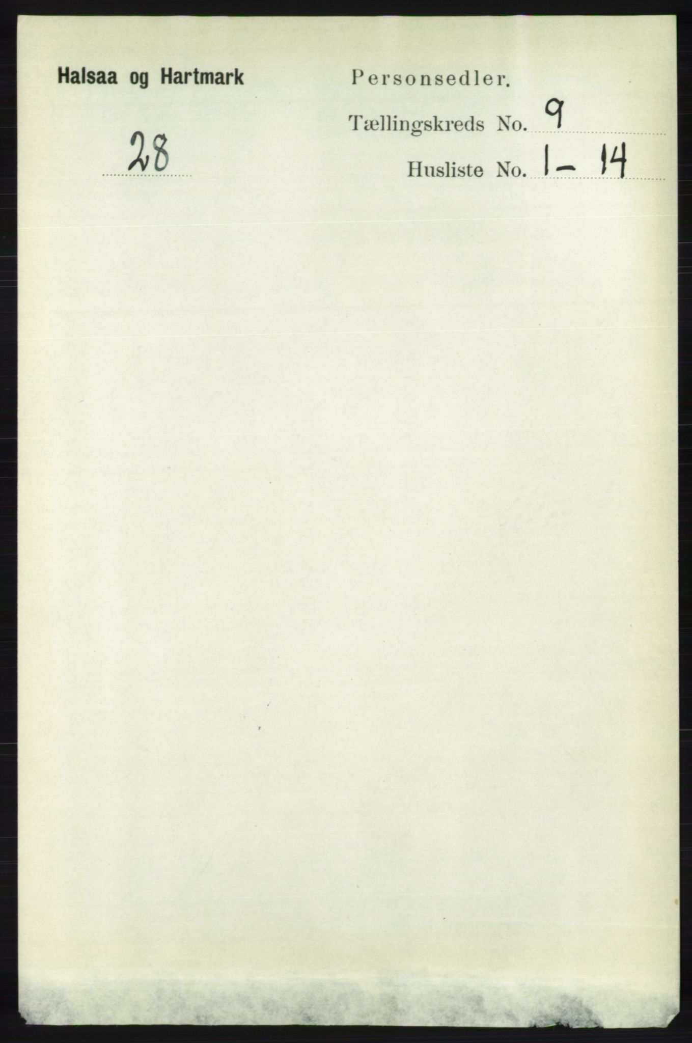 RA, Folketelling 1891 for 1019 Halse og Harkmark herred, 1891, s. 3592