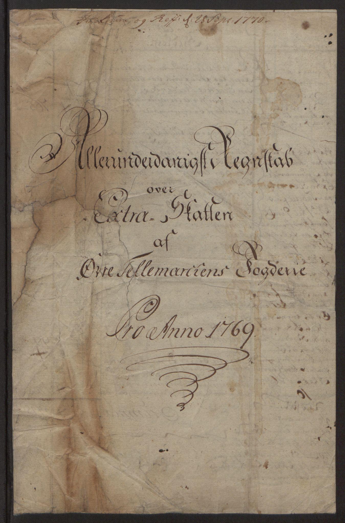 RA, Rentekammeret inntil 1814, Reviderte regnskaper, Fogderegnskap, R38/L2293: Ekstraskatten Øvre Telemark, 1762-1770, s. 139