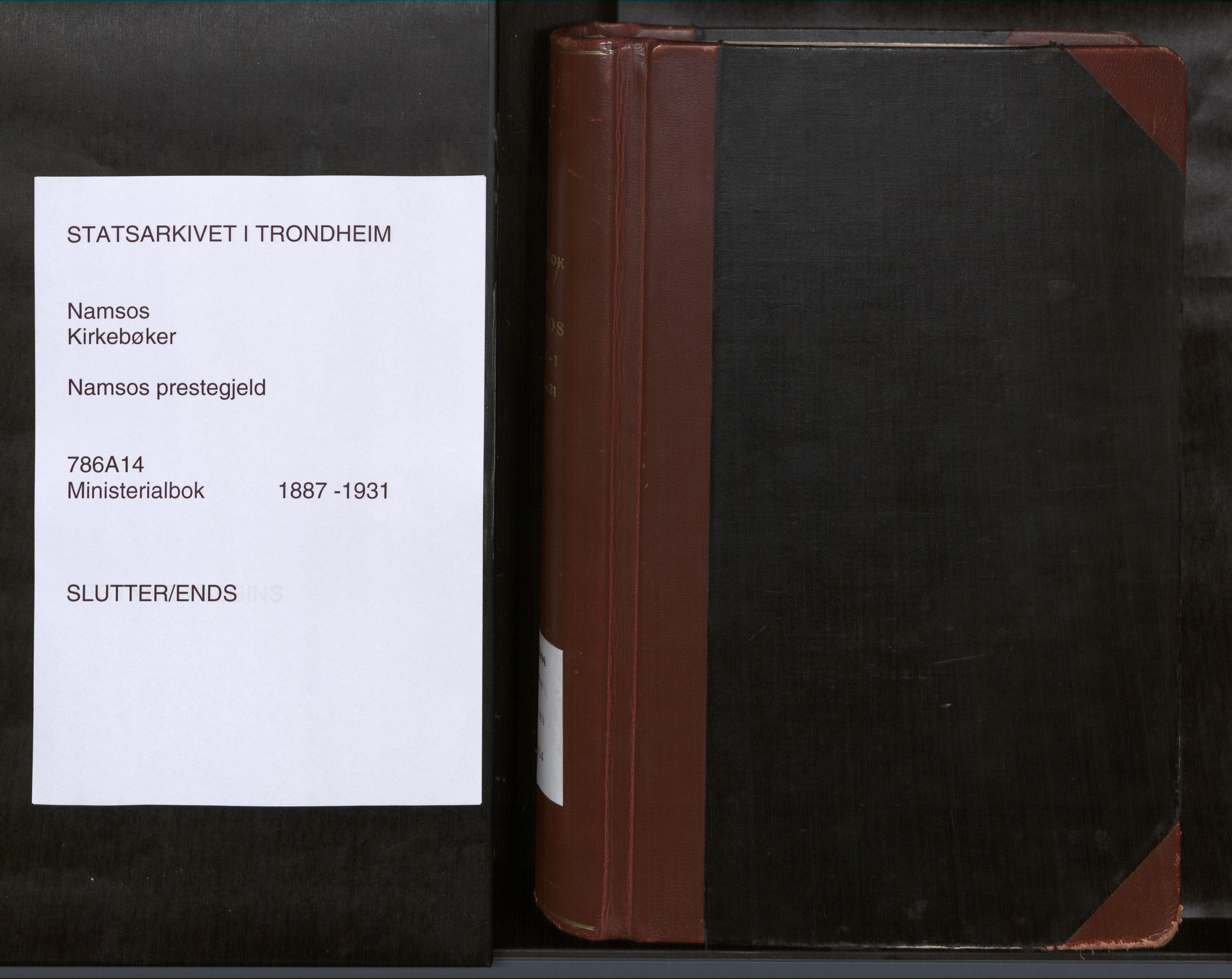 SAT, Ministerialprotokoller, klokkerbøker og fødselsregistre - Nord-Trøndelag, 768/L0579a: Ministerialbok nr. 768A14, 1887-1931