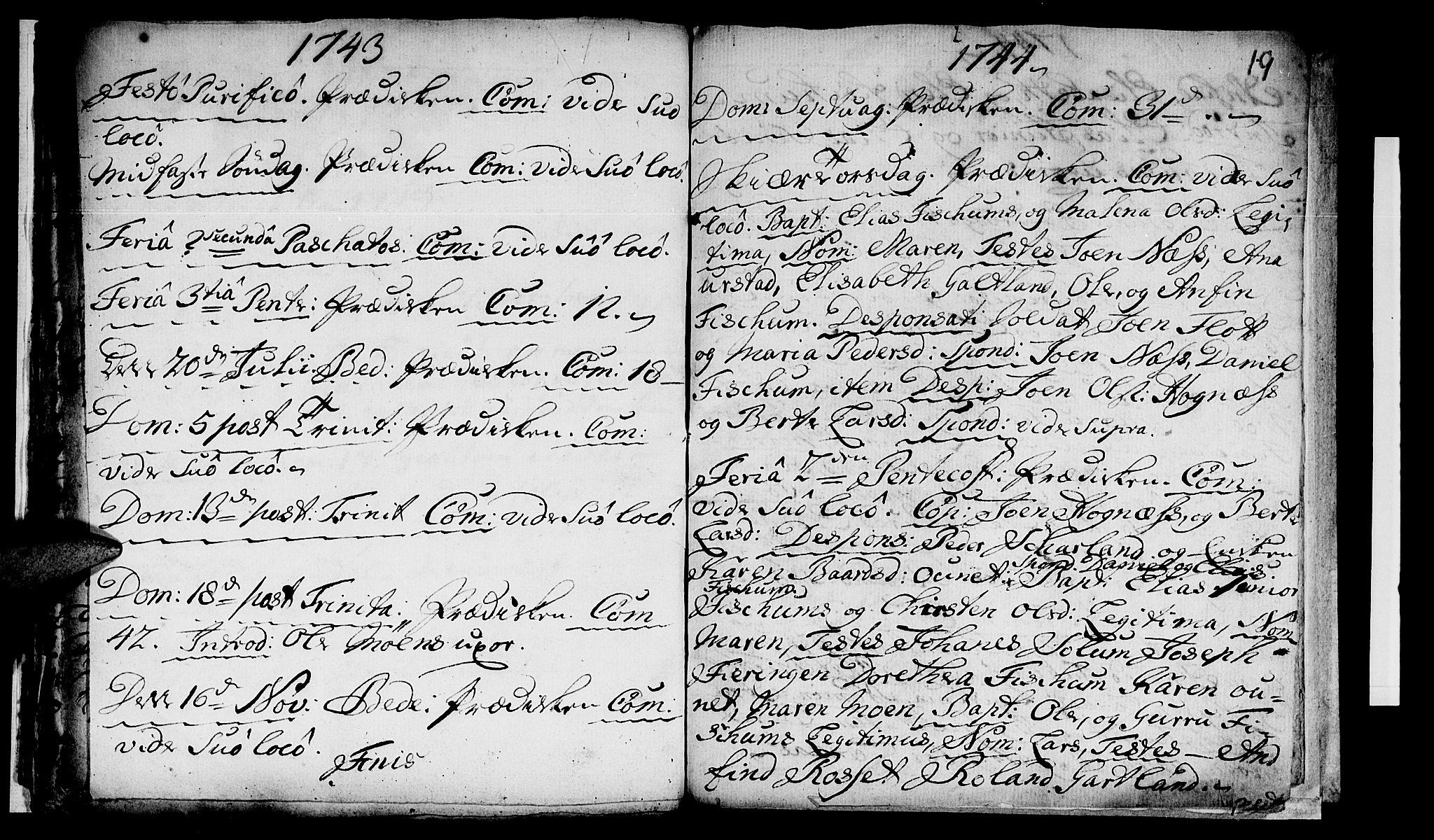 SAT, Ministerialprotokoller, klokkerbøker og fødselsregistre - Nord-Trøndelag, 759/L0525: Ministerialbok nr. 759A01, 1706-1748, s. 19