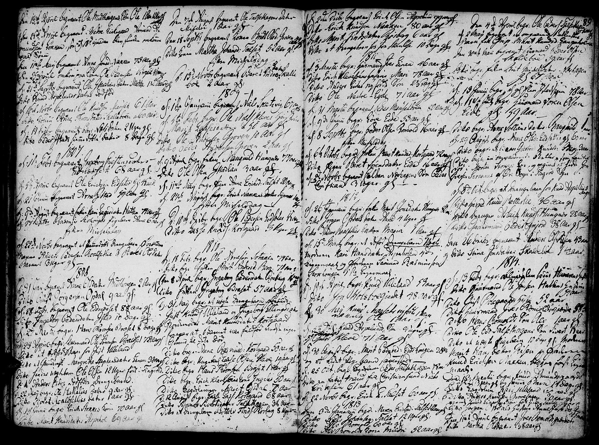 SAT, Ministerialprotokoller, klokkerbøker og fødselsregistre - Møre og Romsdal, 555/L0650: Ministerialbok nr. 555A02 /2, 1798-1821, s. 89
