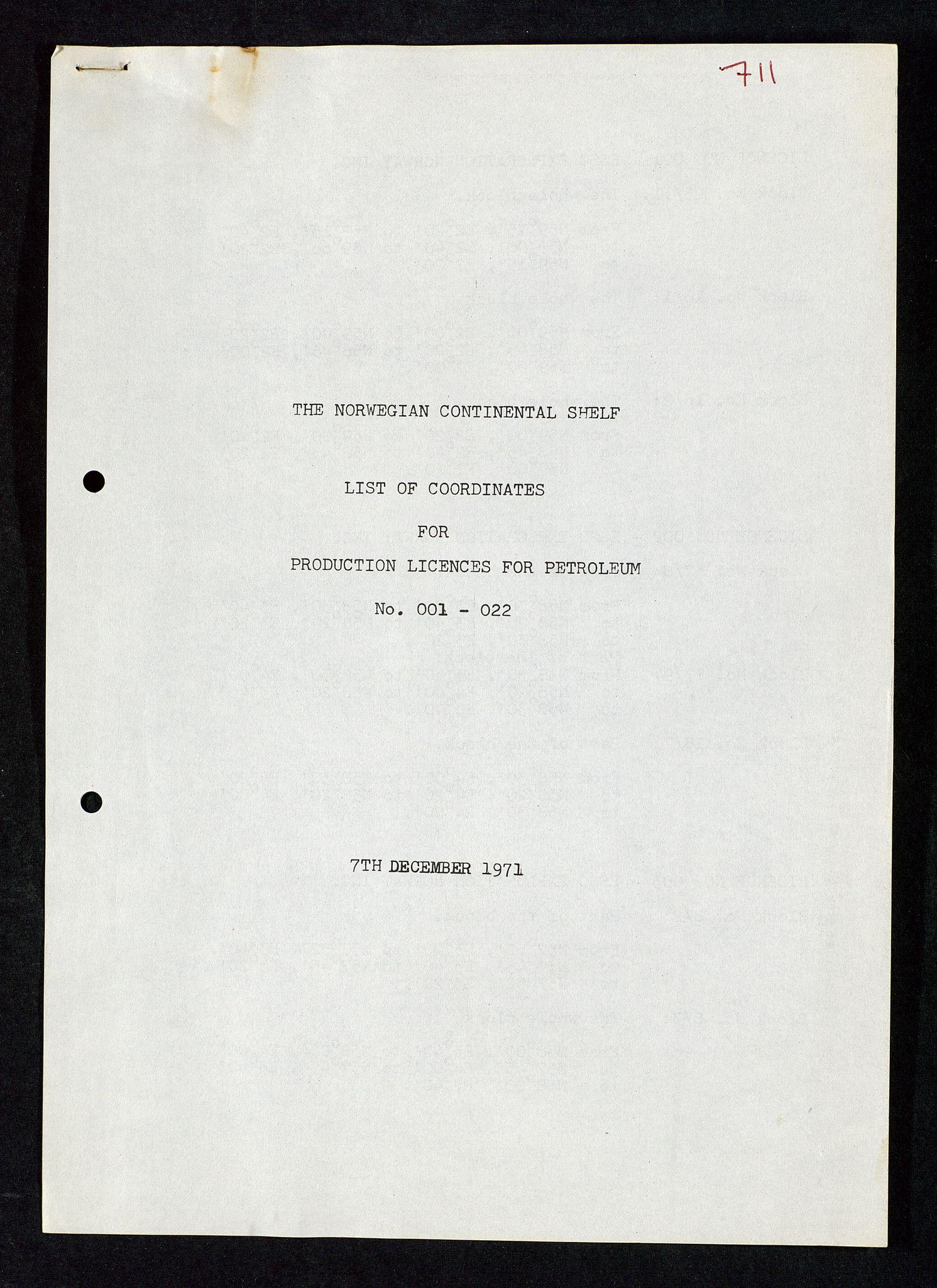 SAST, Industridepartementet, Oljekontoret, Da/L0004: Arkivnøkkel 711 - 712 Utvinningstillatelser, 1970-1971, s. 536