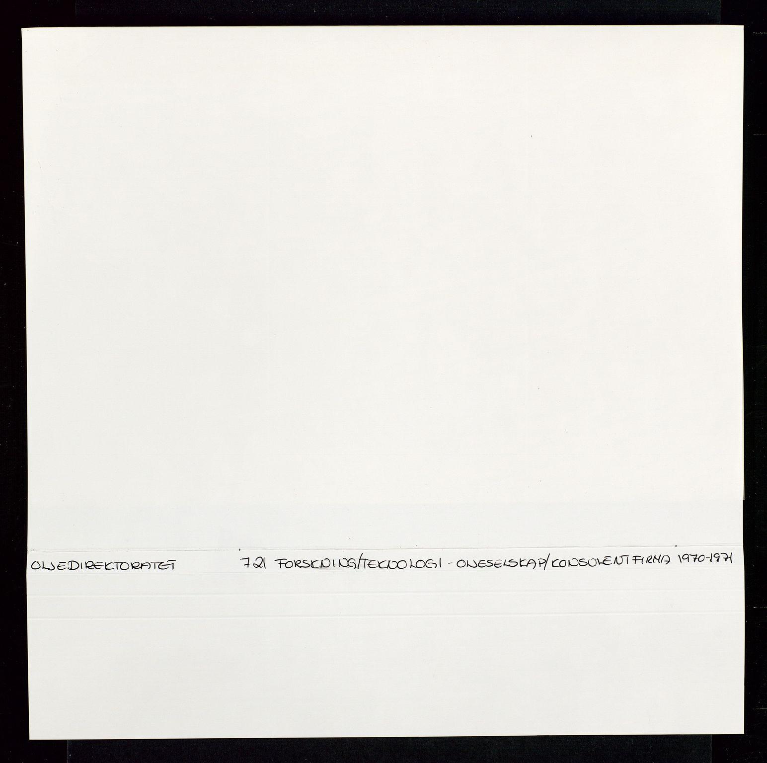 SAST, Industridepartementet, Oljekontoret, Da/L0008:  Arkivnøkkel 721- 722 Geofysikk, forskning, 1970-1972, s. 104