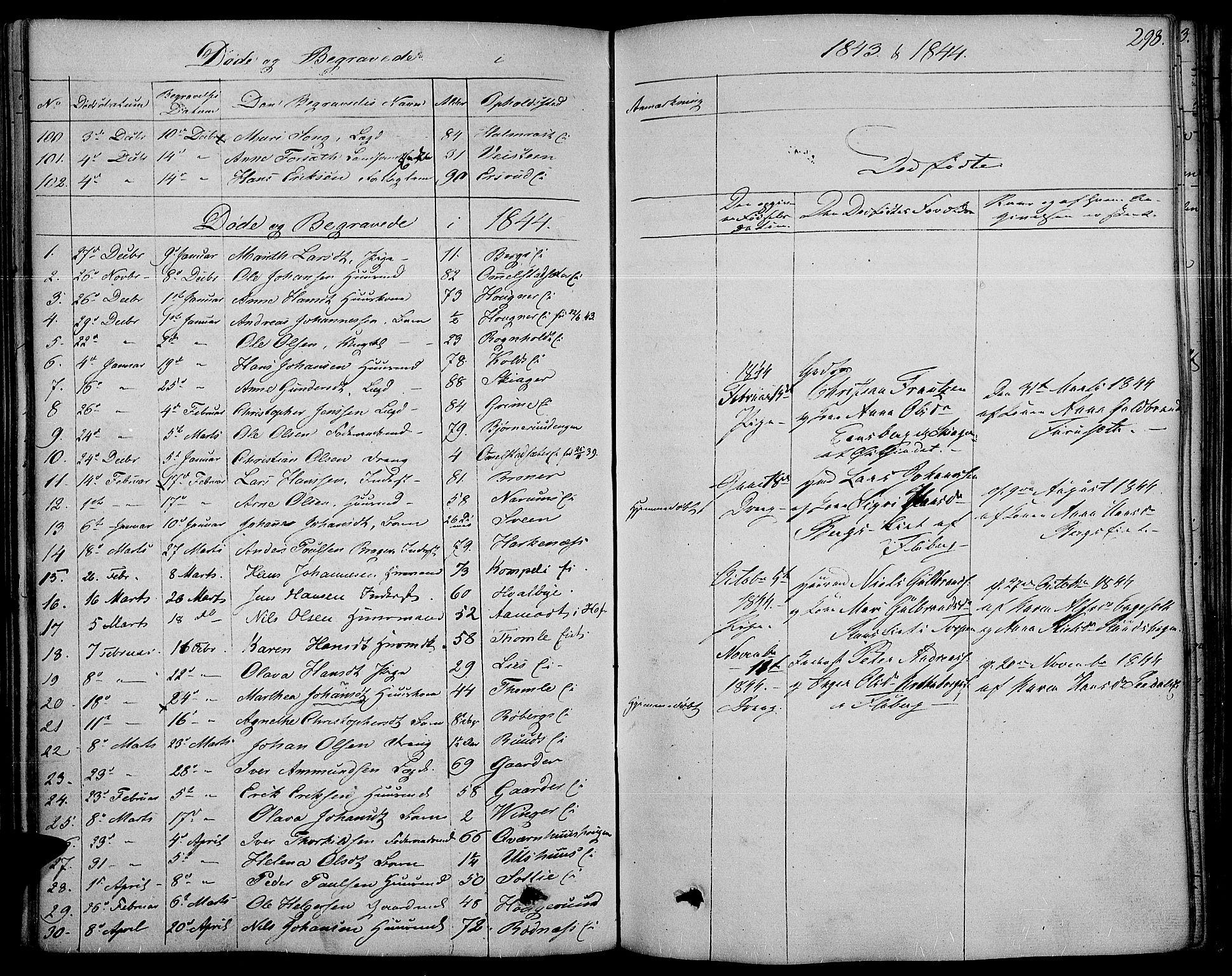 SAH, Land prestekontor, Ministerialbok nr. 8, 1830-1846, s. 298