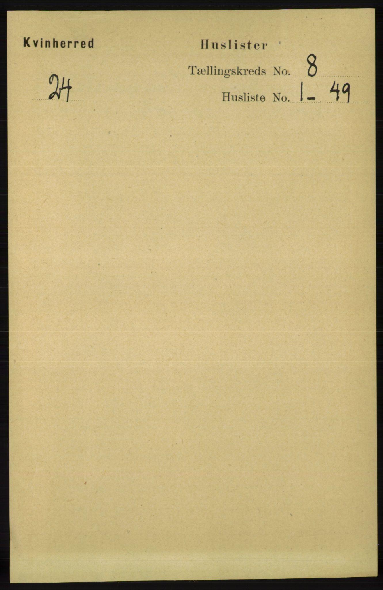 RA, Folketelling 1891 for 1224 Kvinnherad herred, 1891, s. 2921