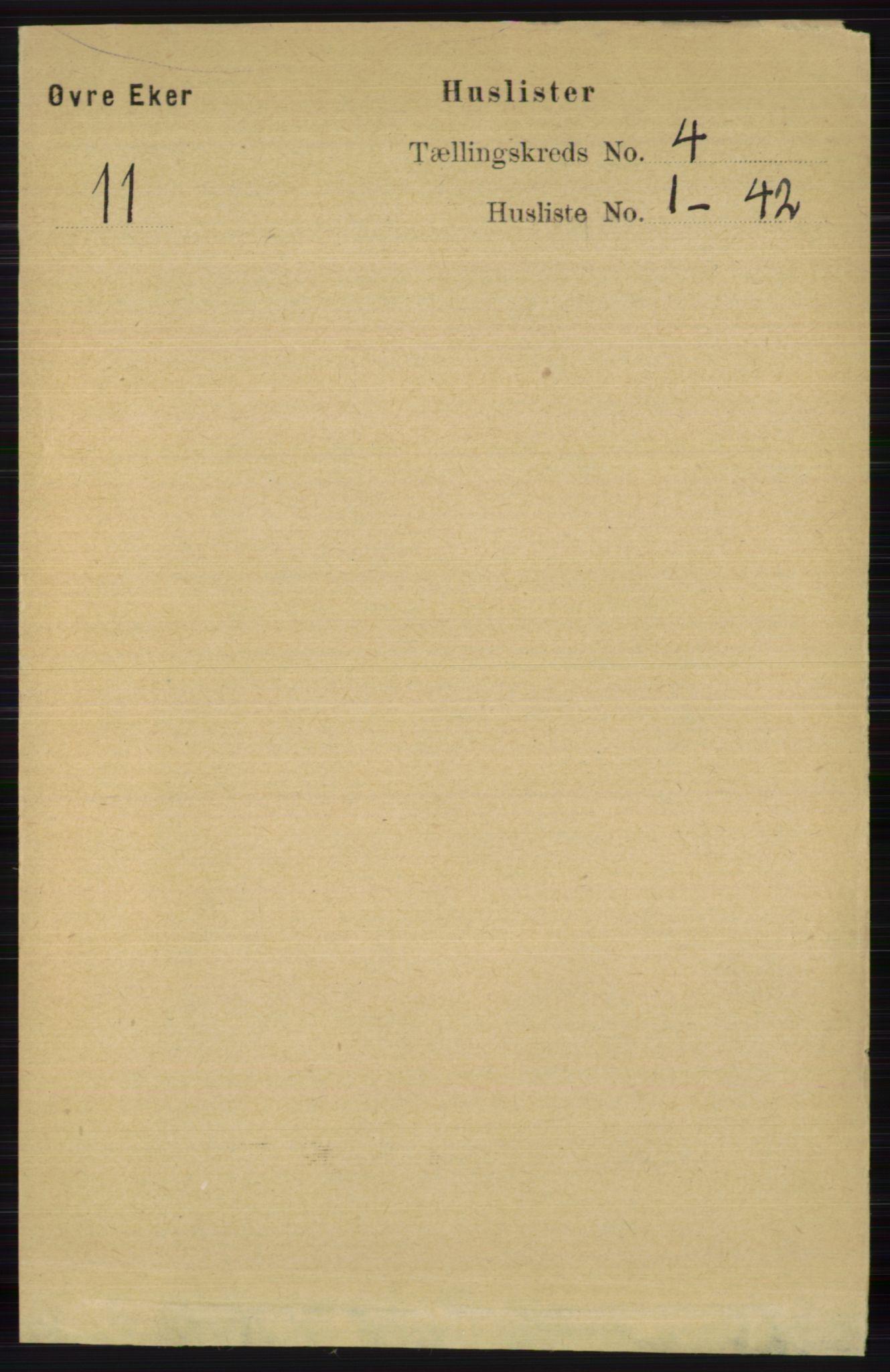 RA, Folketelling 1891 for 0624 Øvre Eiker herred, 1891, s. 1432