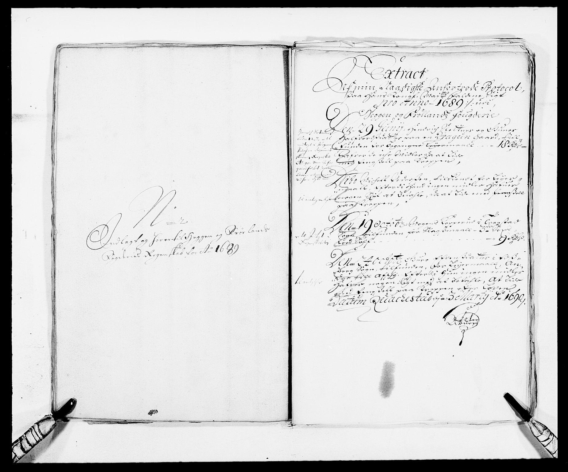 RA, Rentekammeret inntil 1814, Reviderte regnskaper, Fogderegnskap, R06/L0282: Fogderegnskap Heggen og Frøland, 1687-1690, s. 148