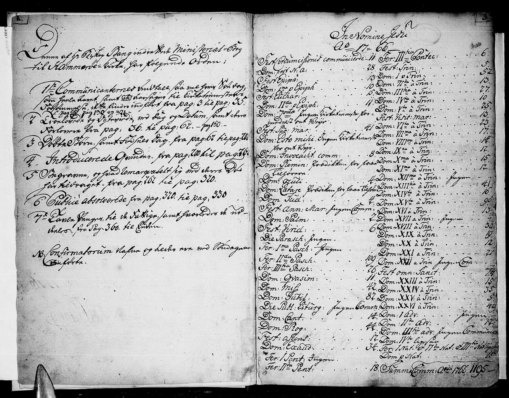 SAT, Ministerialprotokoller, klokkerbøker og fødselsregistre - Nordland, 859/L0841: Ministerialbok nr. 859A01, 1766-1821, s. 2-3