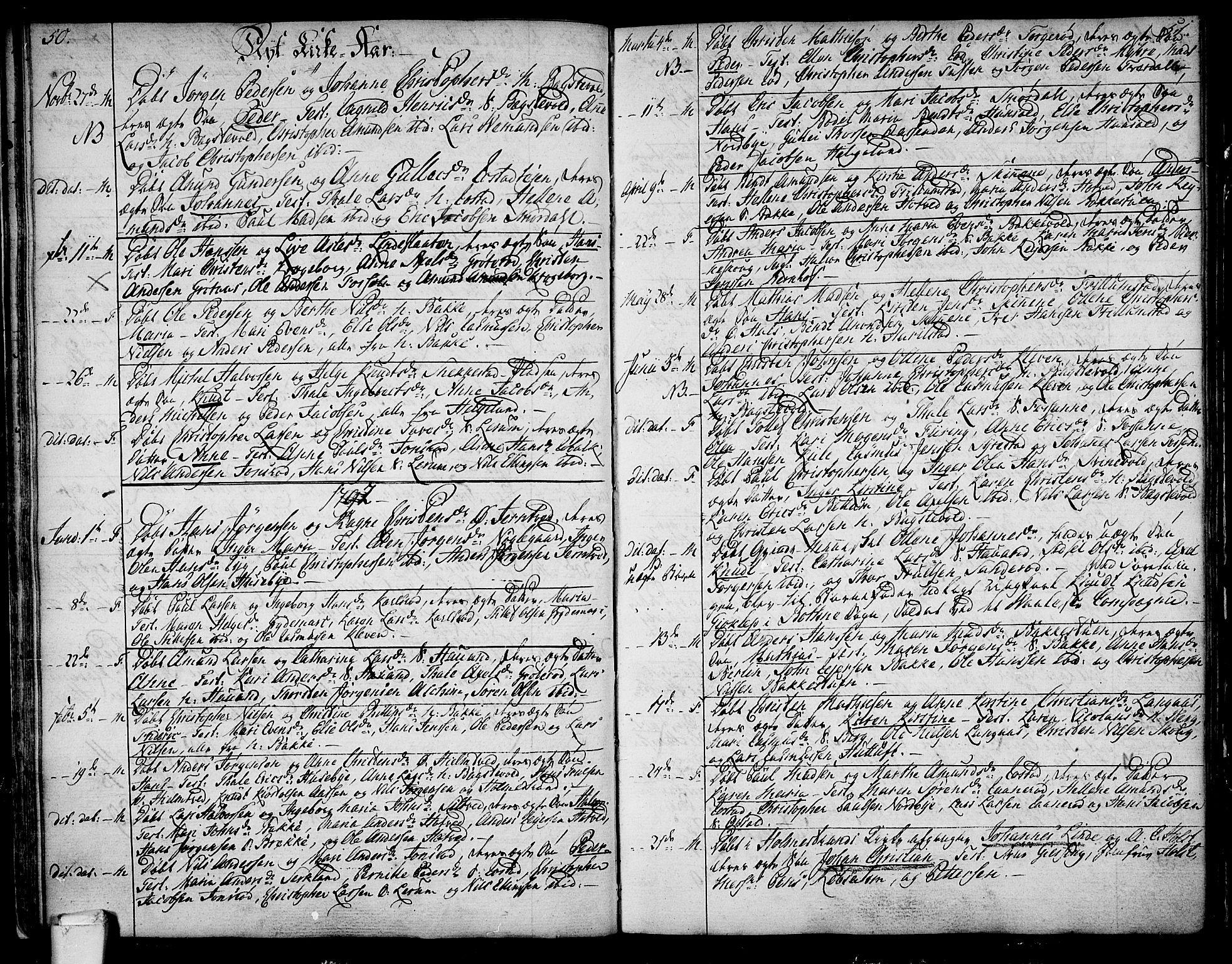 SAKO, Våle kirkebøker, F/Fa/L0005: Ministerialbok nr. I 5, 1773-1808, s. 50-51