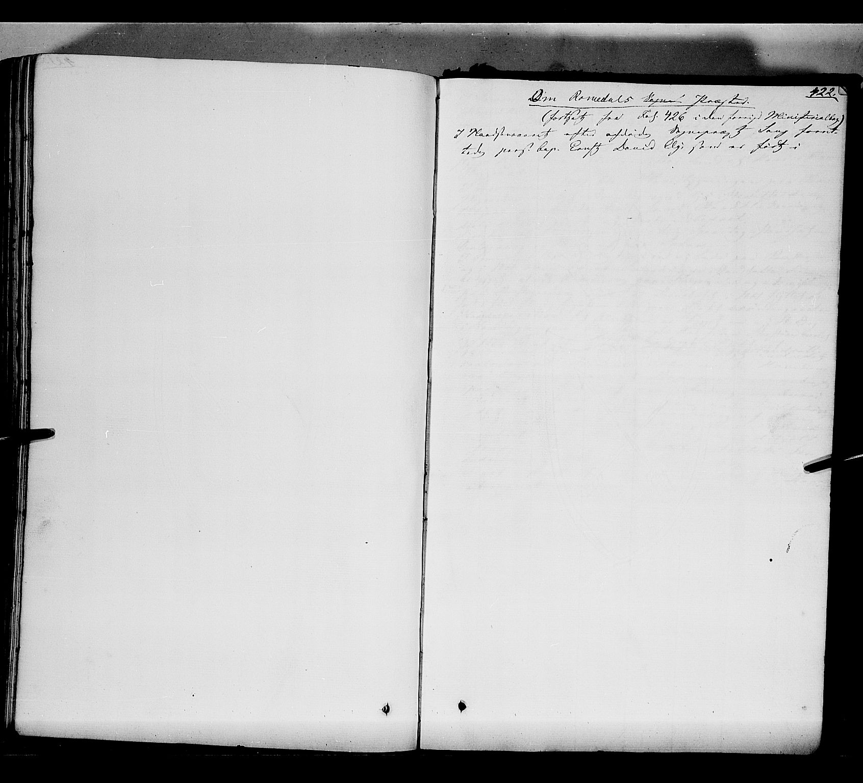 SAH, Romedal prestekontor, K/L0004: Ministerialbok nr. 4, 1847-1861, s. 422