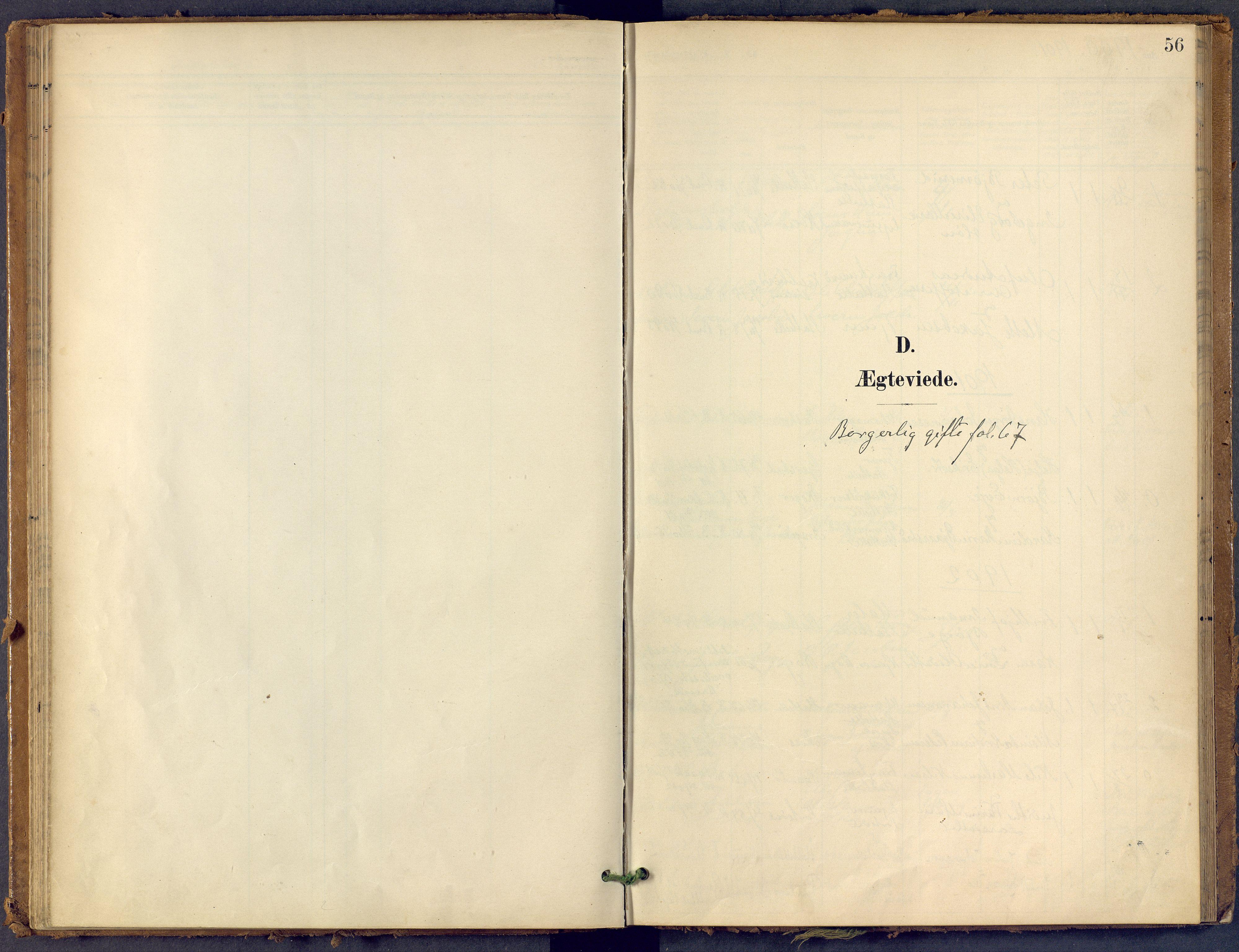 SAKO, Bamble kirkebøker, F/Fb/L0002: Ministerialbok nr. II 2, 1900-1921, s. 56