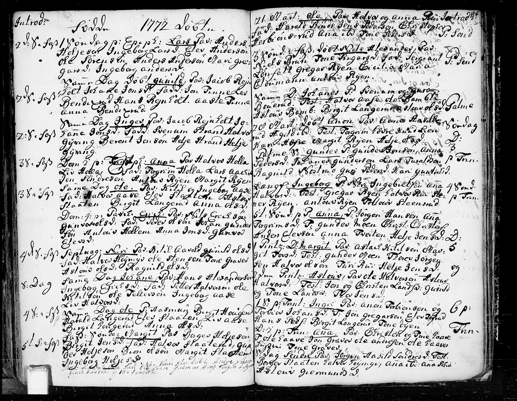 SAKO, Heddal kirkebøker, F/Fa/L0003: Ministerialbok nr. I 3, 1723-1783, s. 194