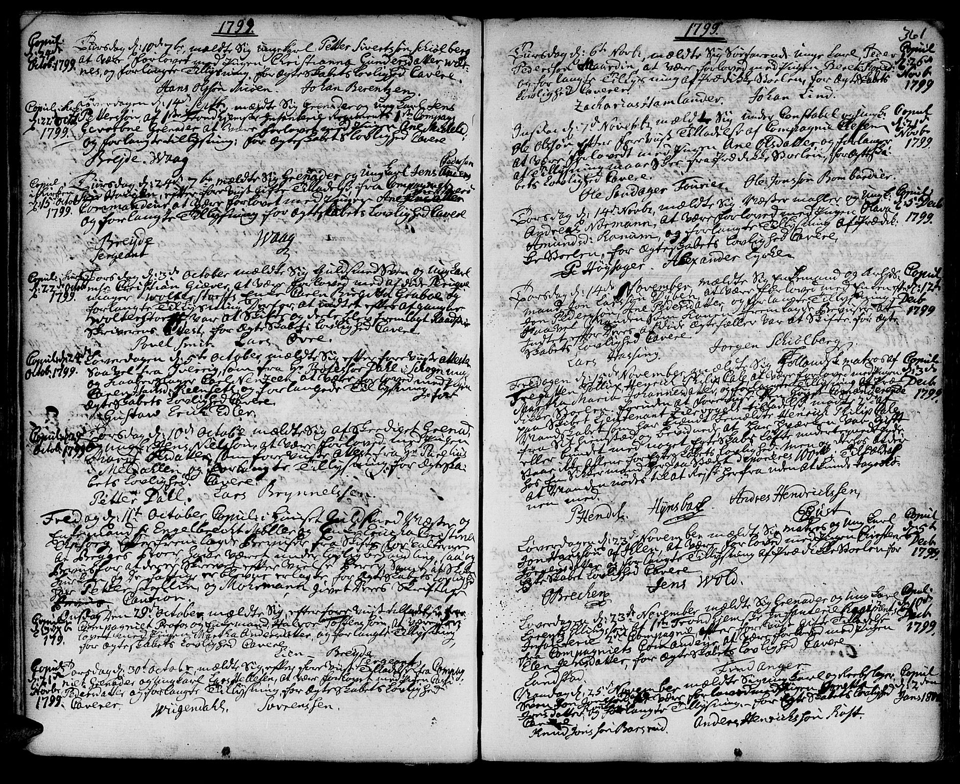 SAT, Ministerialprotokoller, klokkerbøker og fødselsregistre - Sør-Trøndelag, 601/L0038: Ministerialbok nr. 601A06, 1766-1877, s. 361