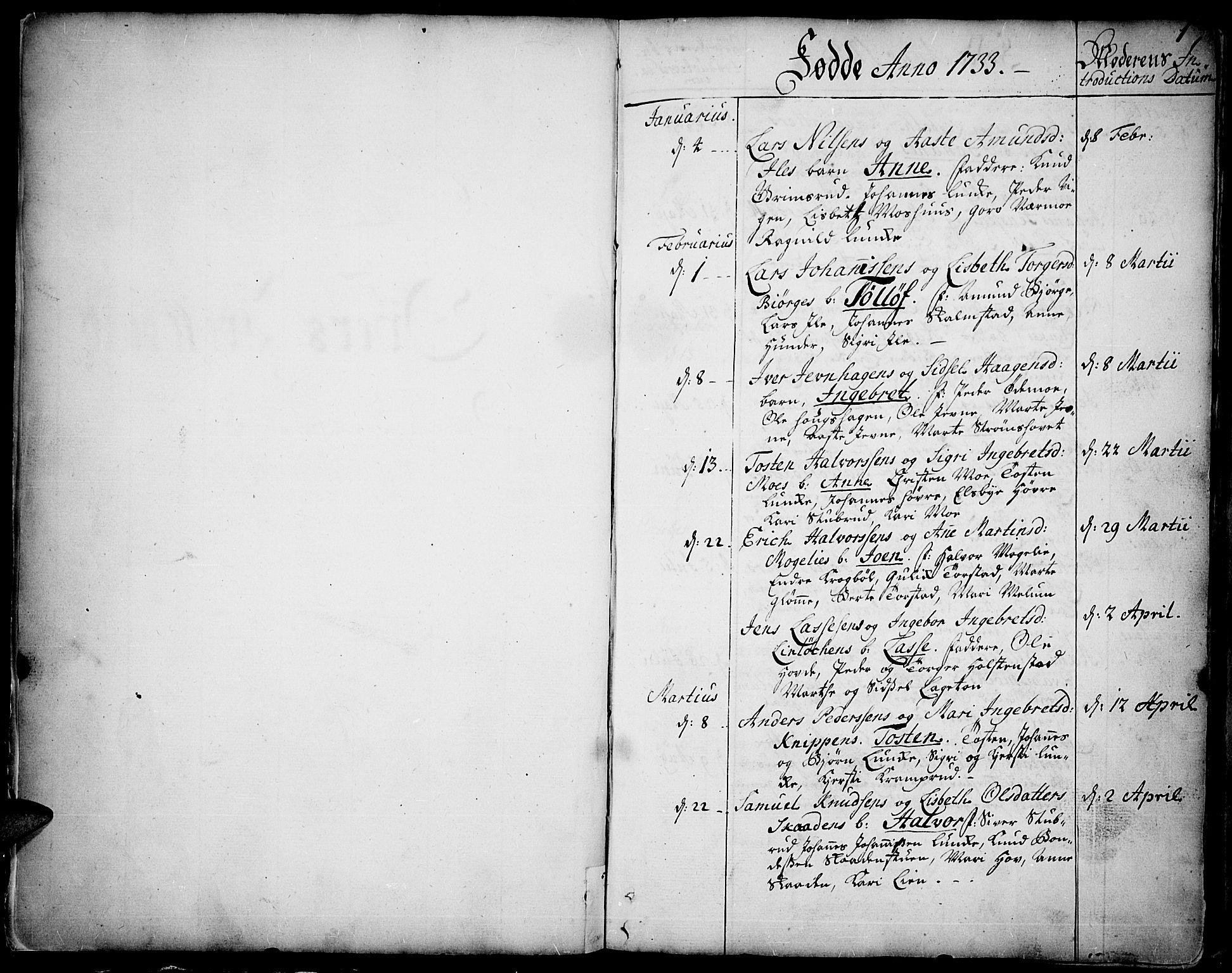 SAH, Øyer prestekontor, Ministerialbok nr. 2, 1733-1784, s. 0-1