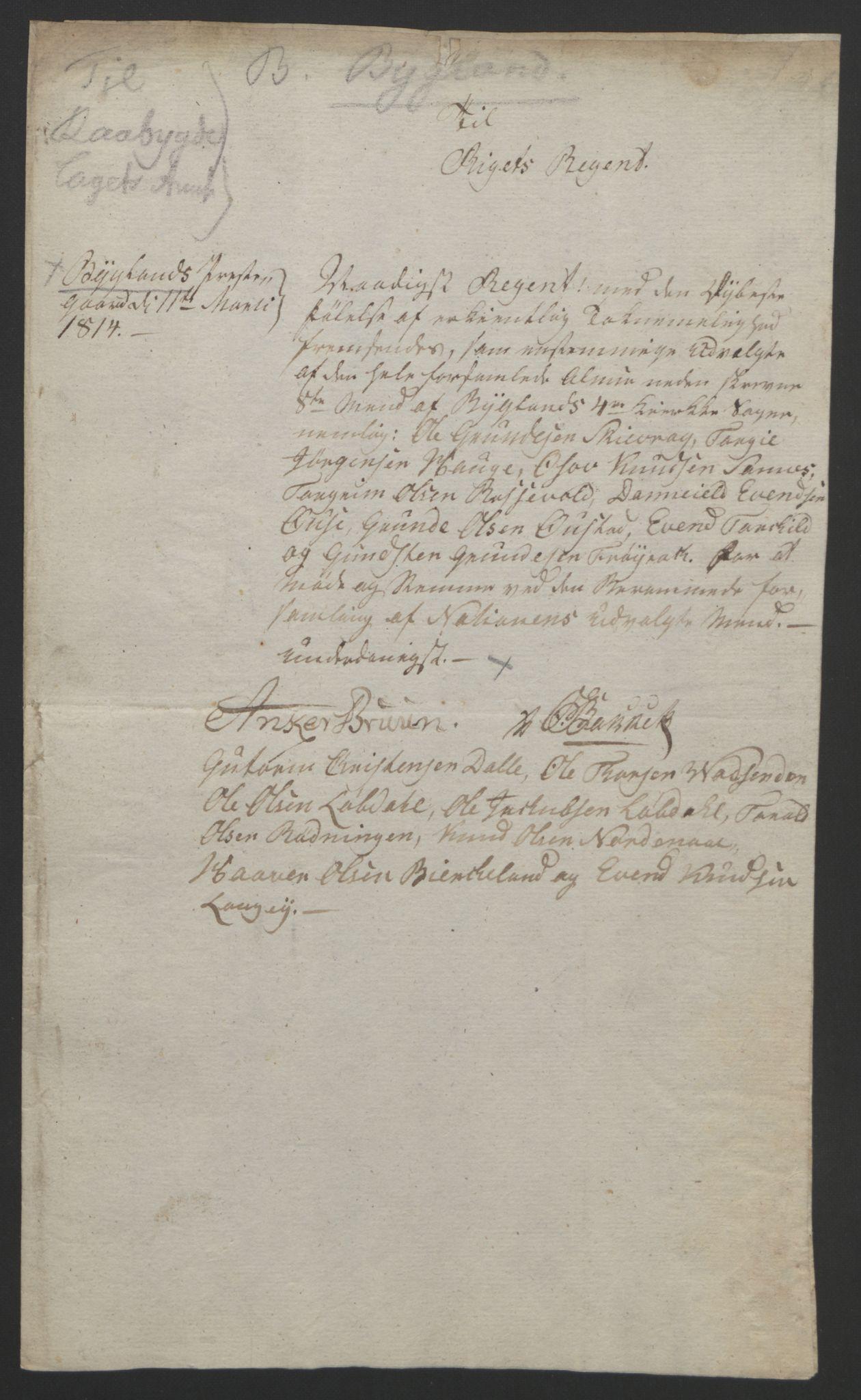 RA, Statsrådssekretariatet, D/Db/L0008: Fullmakter for Eidsvollsrepresentantene i 1814. , 1814, s. 110