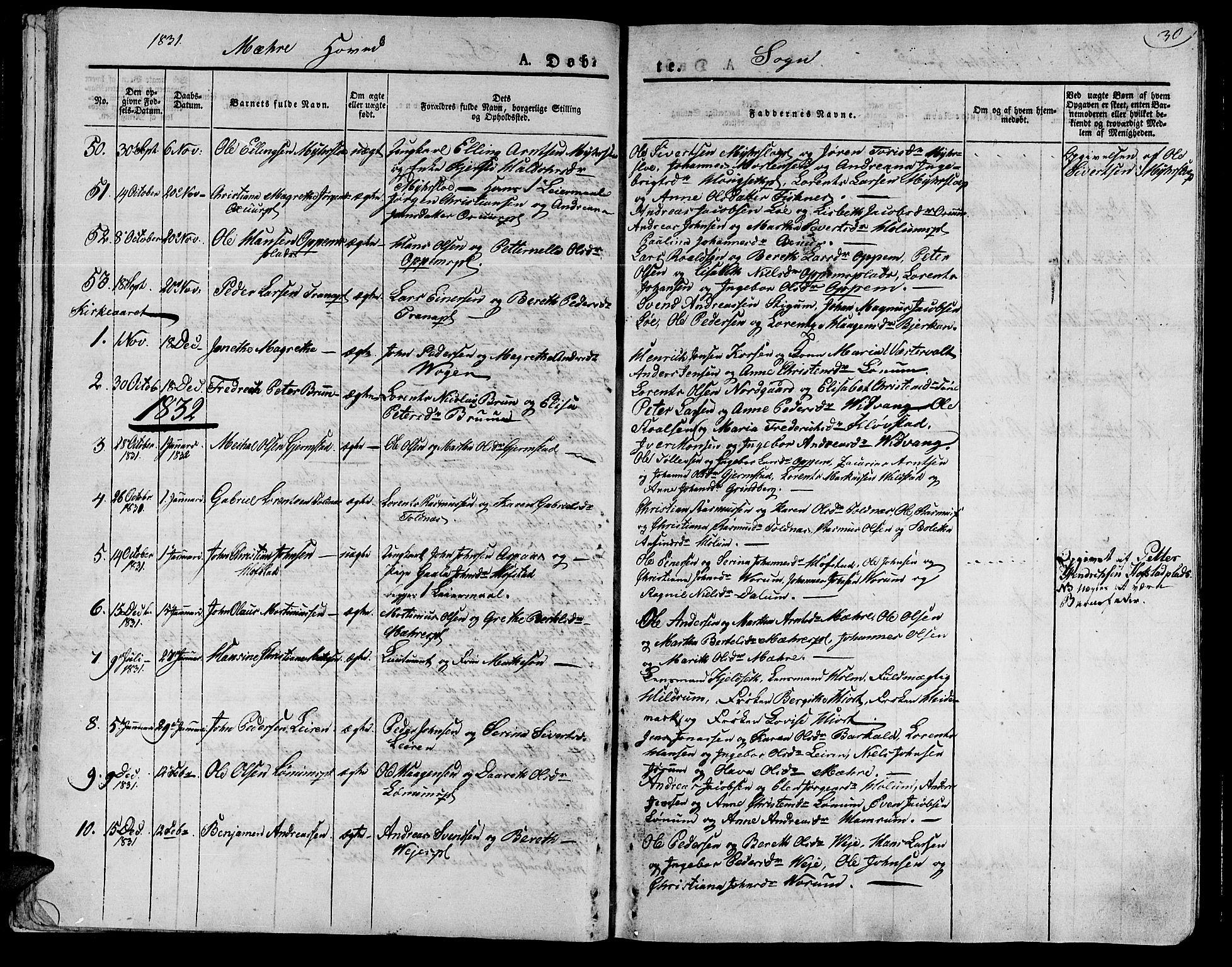 SAT, Ministerialprotokoller, klokkerbøker og fødselsregistre - Nord-Trøndelag, 735/L0336: Ministerialbok nr. 735A05 /1, 1825-1835, s. 30