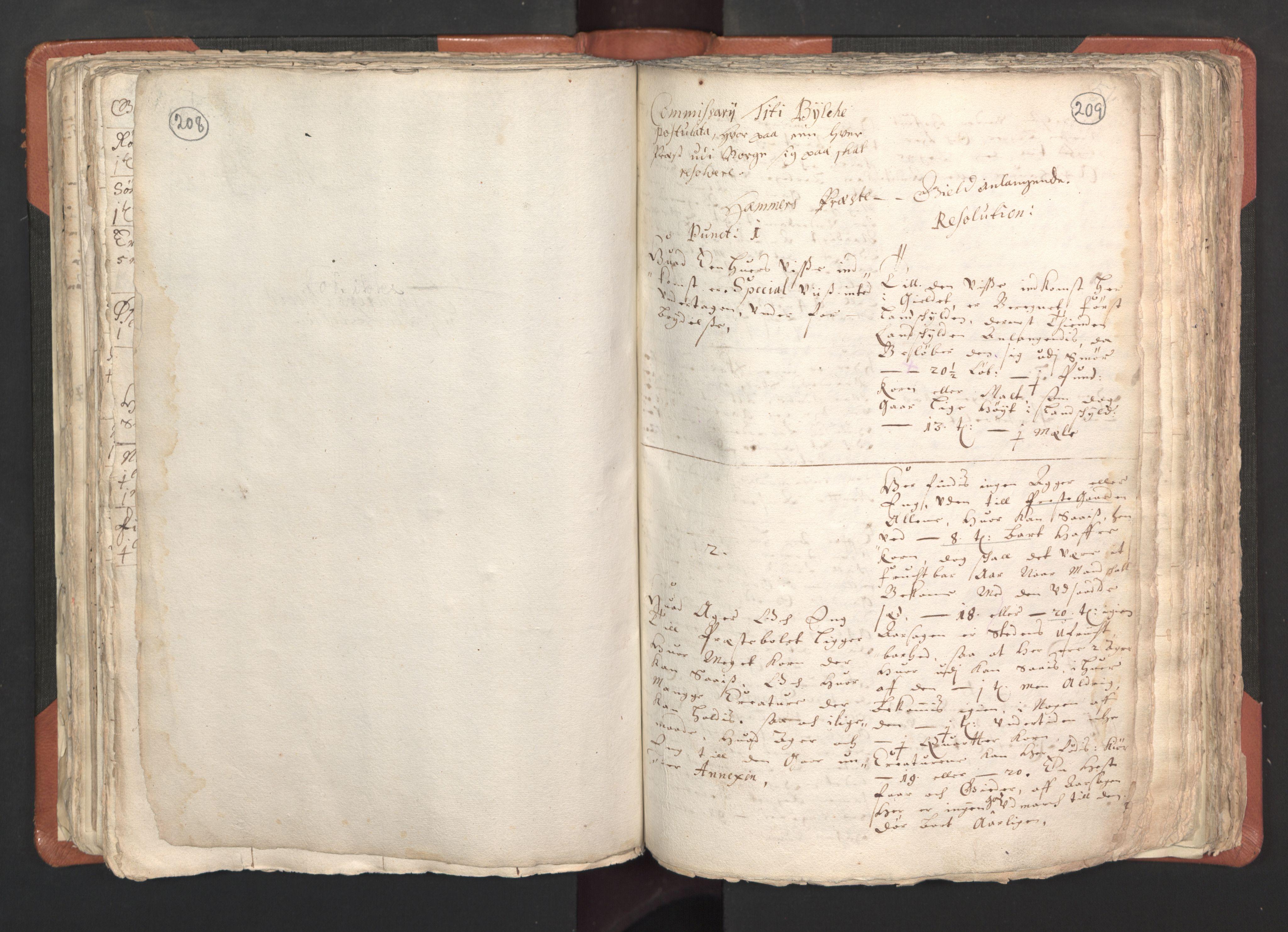 RA, Sogneprestenes manntall 1664-1666, nr. 22: Nordhordland prosti, 1664-1666, s. 208-209