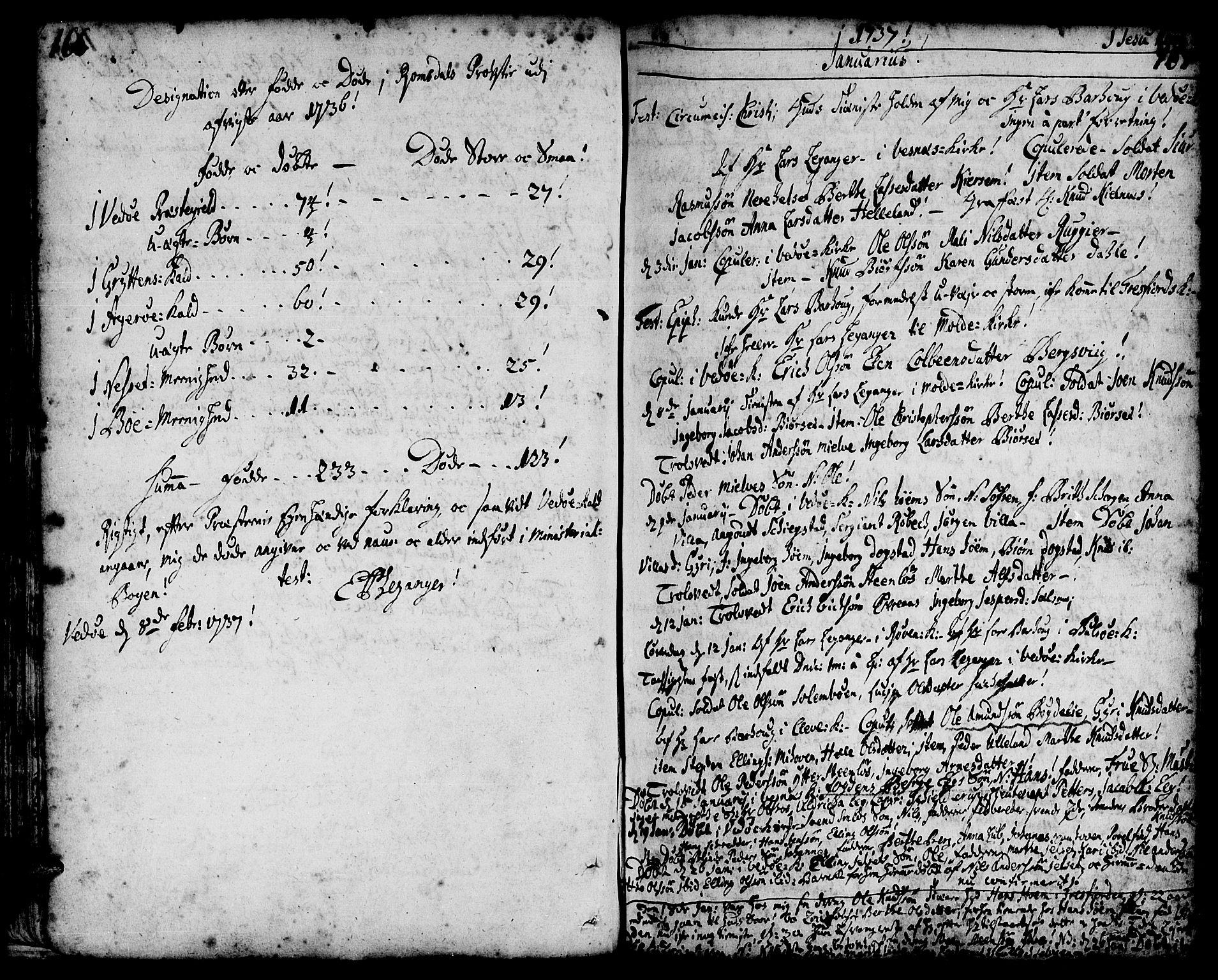 SAT, Ministerialprotokoller, klokkerbøker og fødselsregistre - Møre og Romsdal, 547/L0599: Ministerialbok nr. 547A01, 1721-1764, s. 168-169