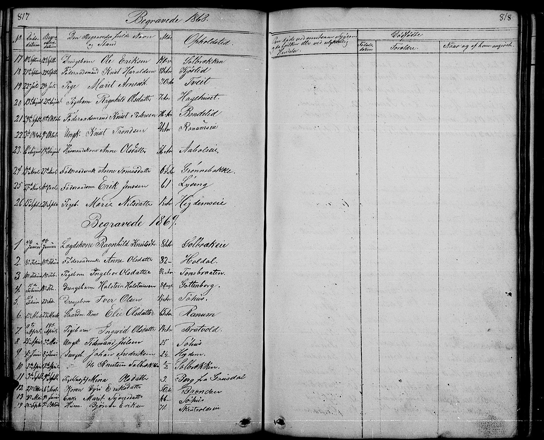 SAH, Nord-Aurdal prestekontor, Klokkerbok nr. 1, 1834-1887, s. 817-818