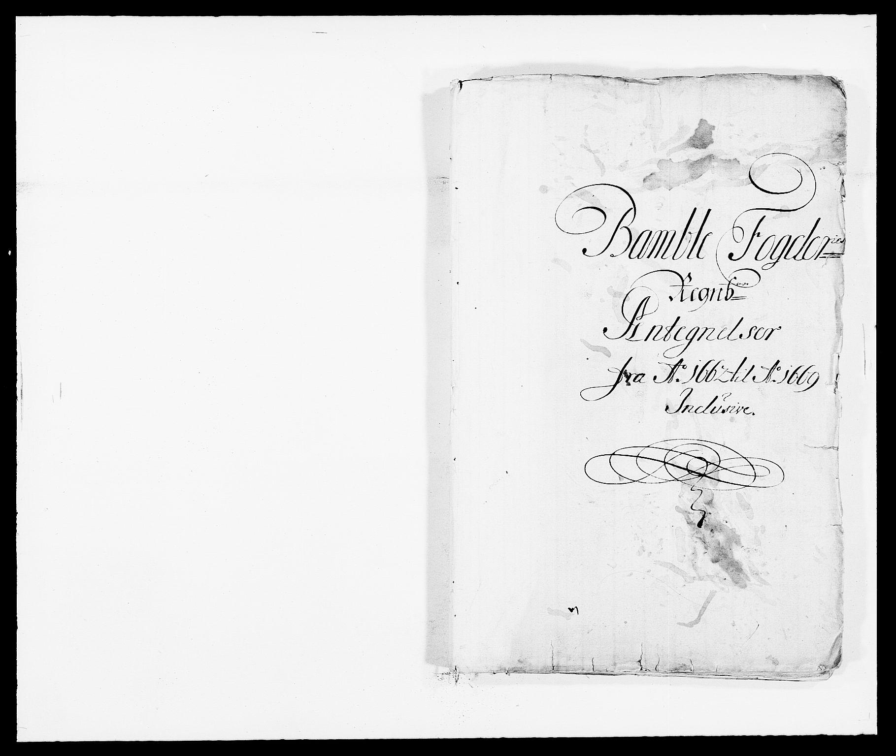 RA, Rentekammeret inntil 1814, Reviderte regnskaper, Fogderegnskap, R34/L2040: Fogderegnskap Bamble, 1662-1669, s. 276