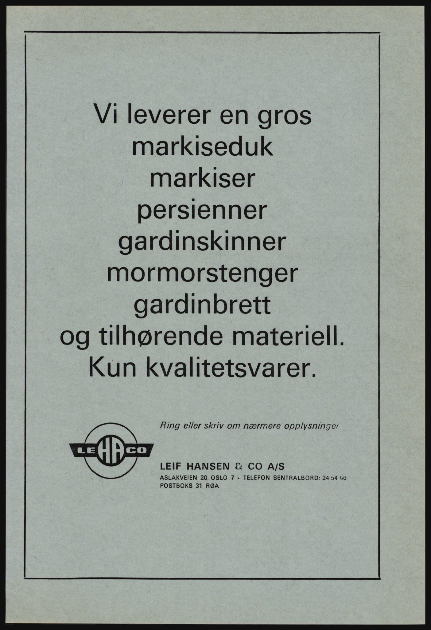 PUBL, Kristiania/Oslo adressebok, 1978-1979