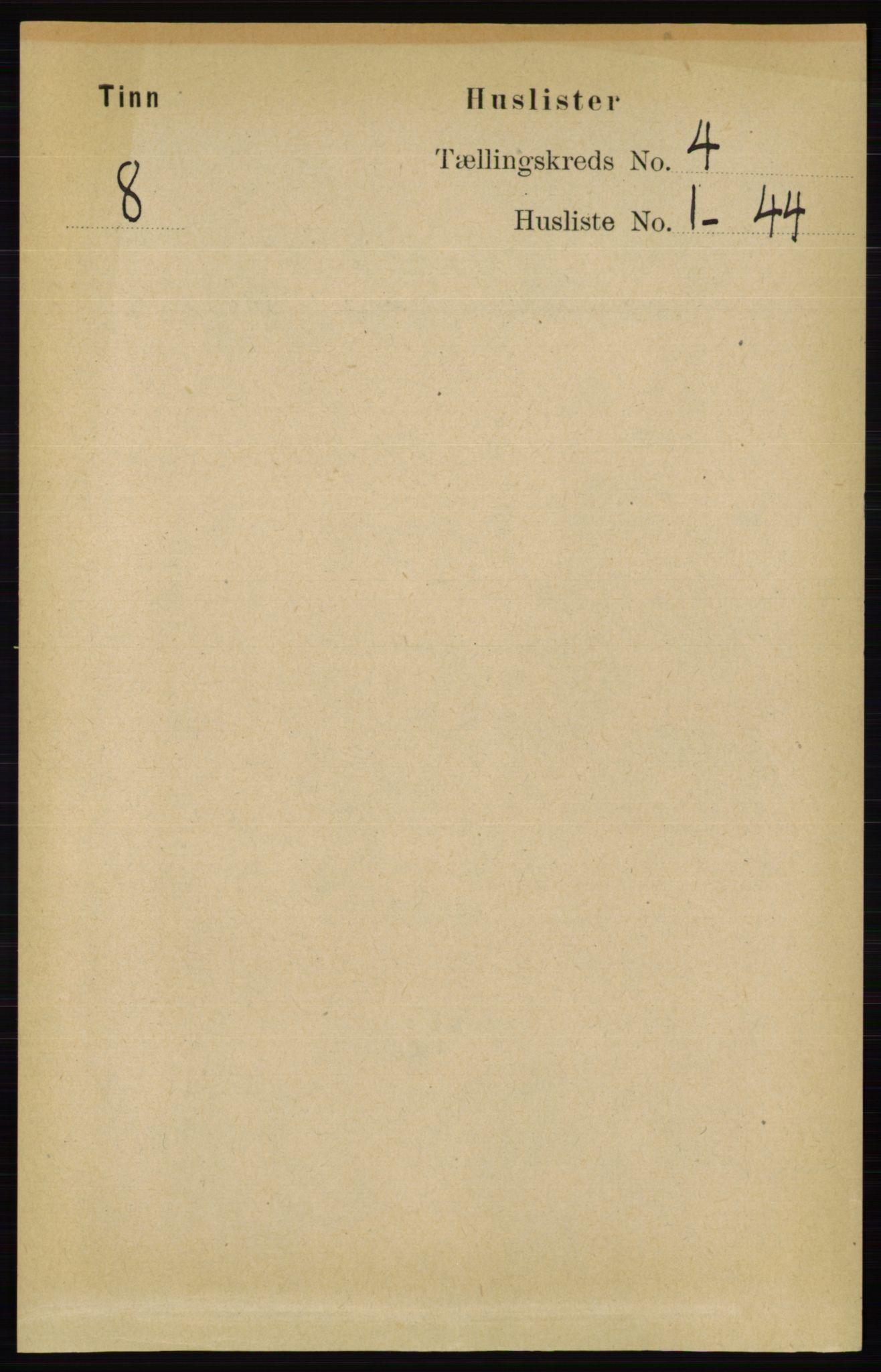 RA, Folketelling 1891 for 0826 Tinn herred, 1891, s. 677