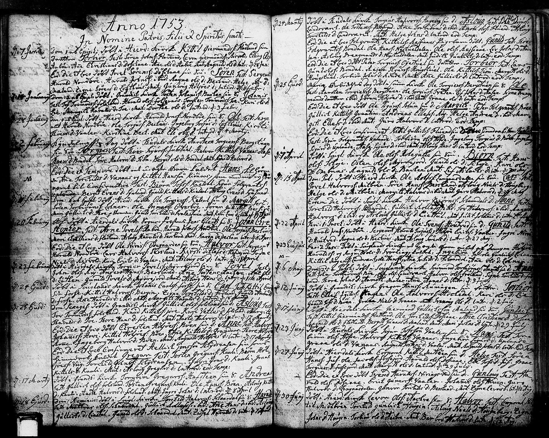 SAKO, Hjartdal kirkebøker, F/Fa/L0003: Ministerialbok nr. I 3, 1727-1775, s. 76