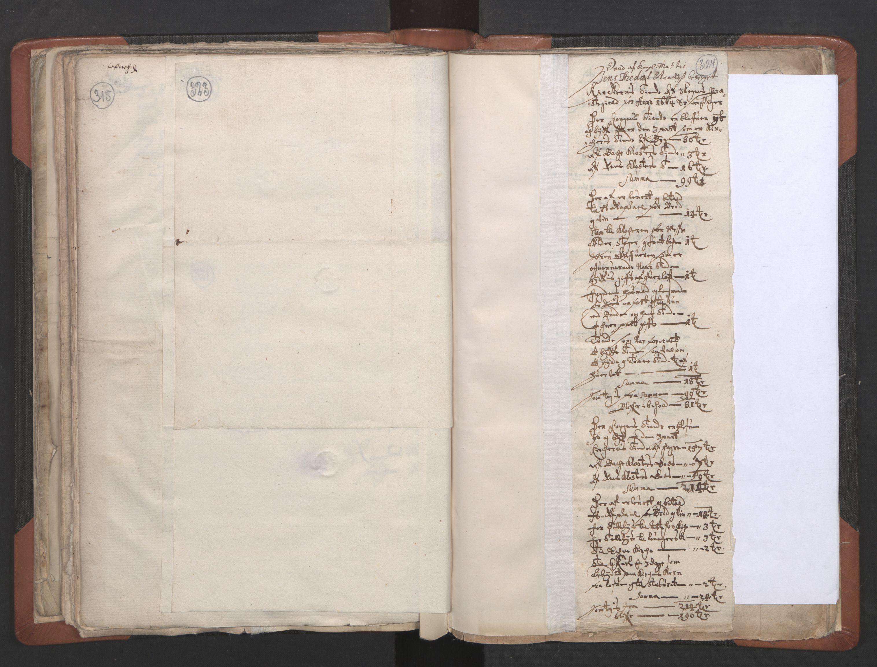 RA, Sogneprestenes manntall 1664-1666, nr. 32: Innherad prosti, 1664-1666, s. 323-324
