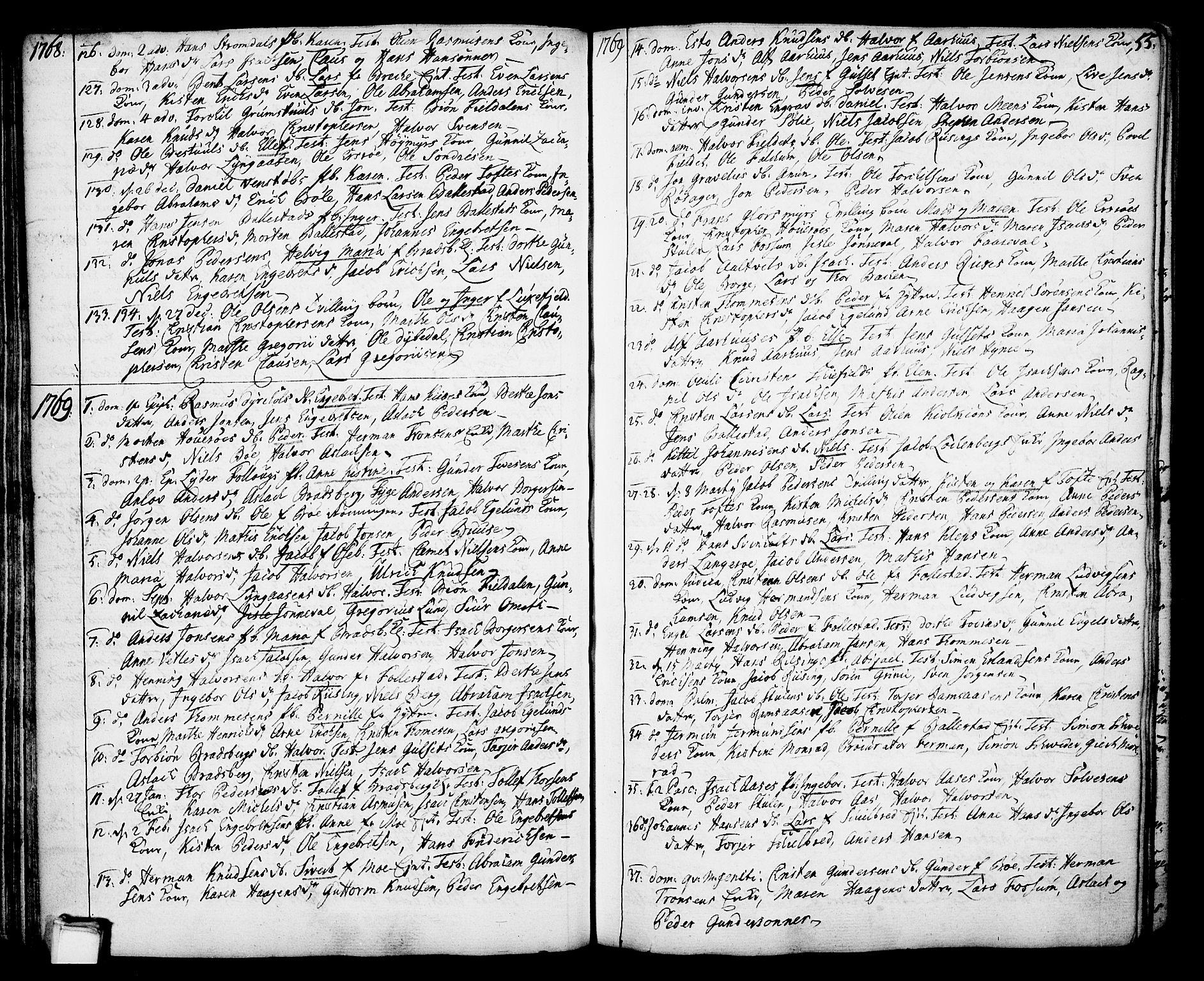 SAKO, Gjerpen kirkebøker, F/Fa/L0002: Ministerialbok nr. 2, 1747-1795, s. 55