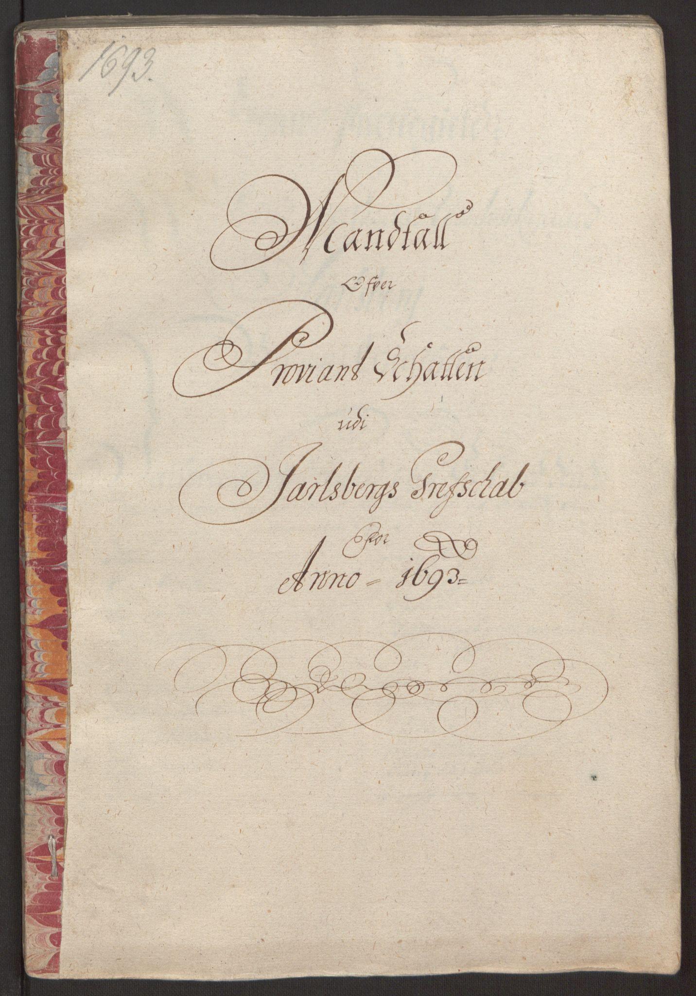 RA, Rentekammeret inntil 1814, Reviderte regnskaper, Fogderegnskap, R32/L1866: Fogderegnskap Jarlsberg grevskap, 1693, s. 84