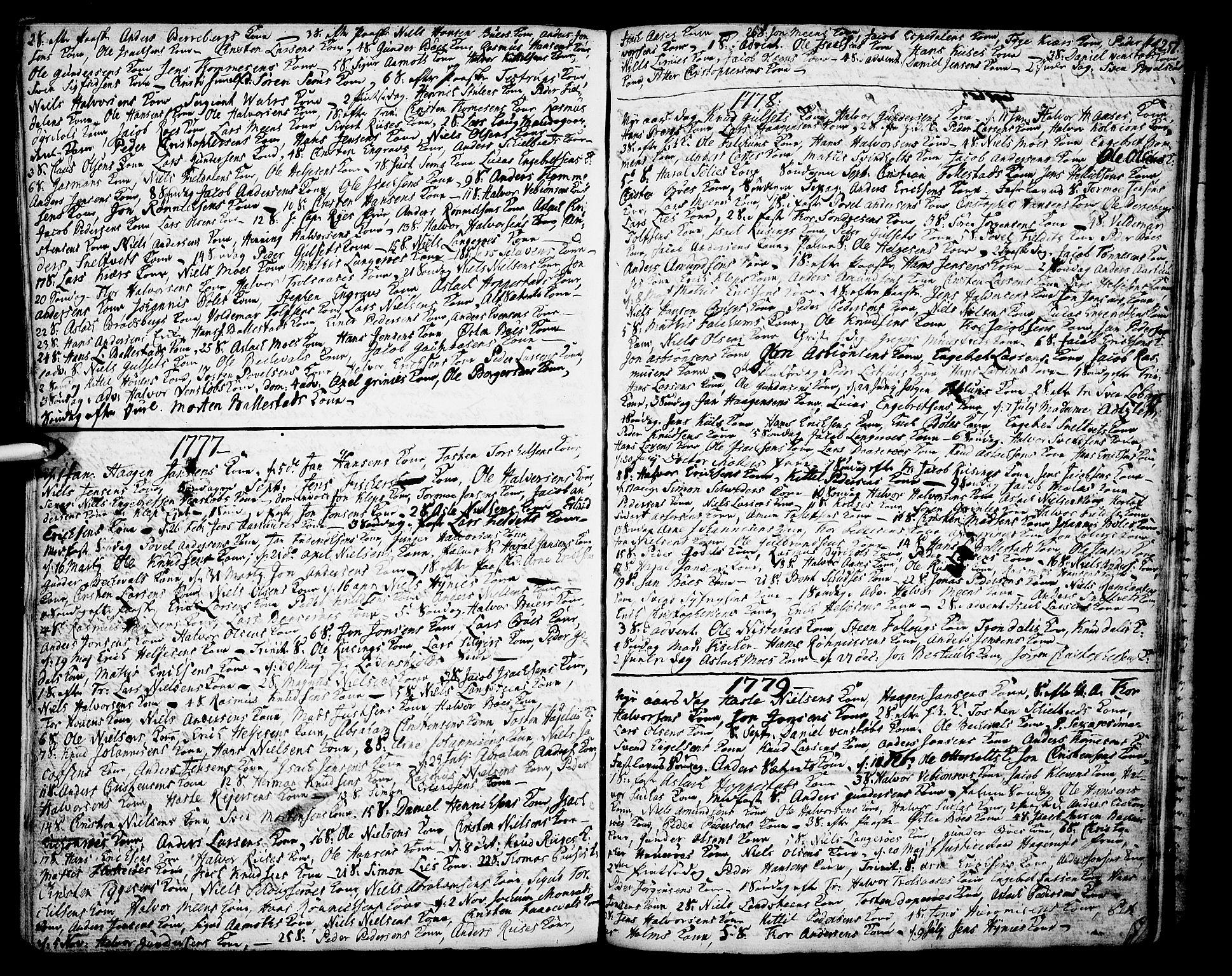 SAKO, Gjerpen kirkebøker, F/Fa/L0002: Ministerialbok nr. 2, 1747-1795, s. 257