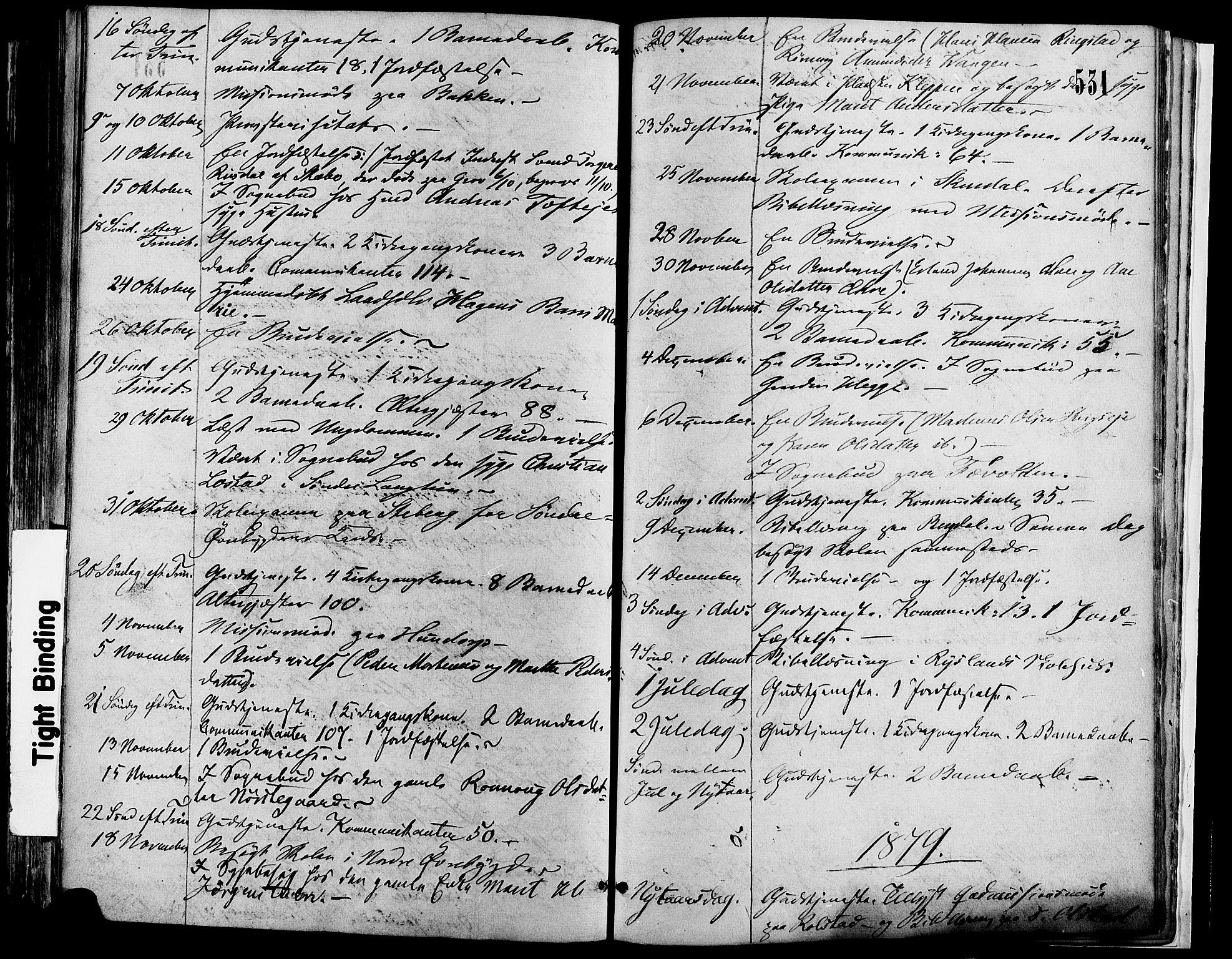 SAH, Sør-Fron prestekontor, H/Ha/Haa/L0002: Ministerialbok nr. 2, 1864-1880, s. 531
