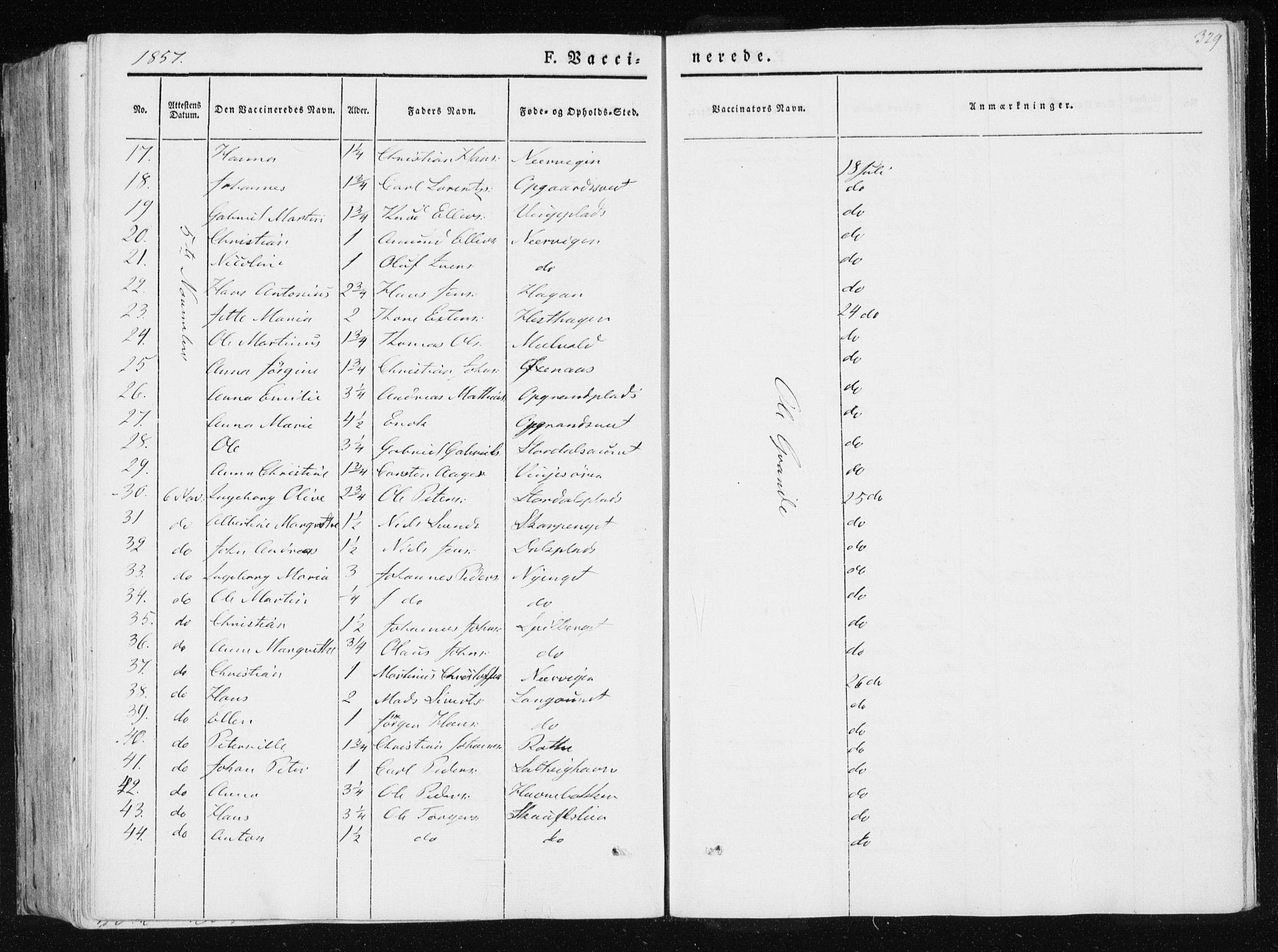 SAT, Ministerialprotokoller, klokkerbøker og fødselsregistre - Nord-Trøndelag, 733/L0323: Ministerialbok nr. 733A02, 1843-1870, s. 329