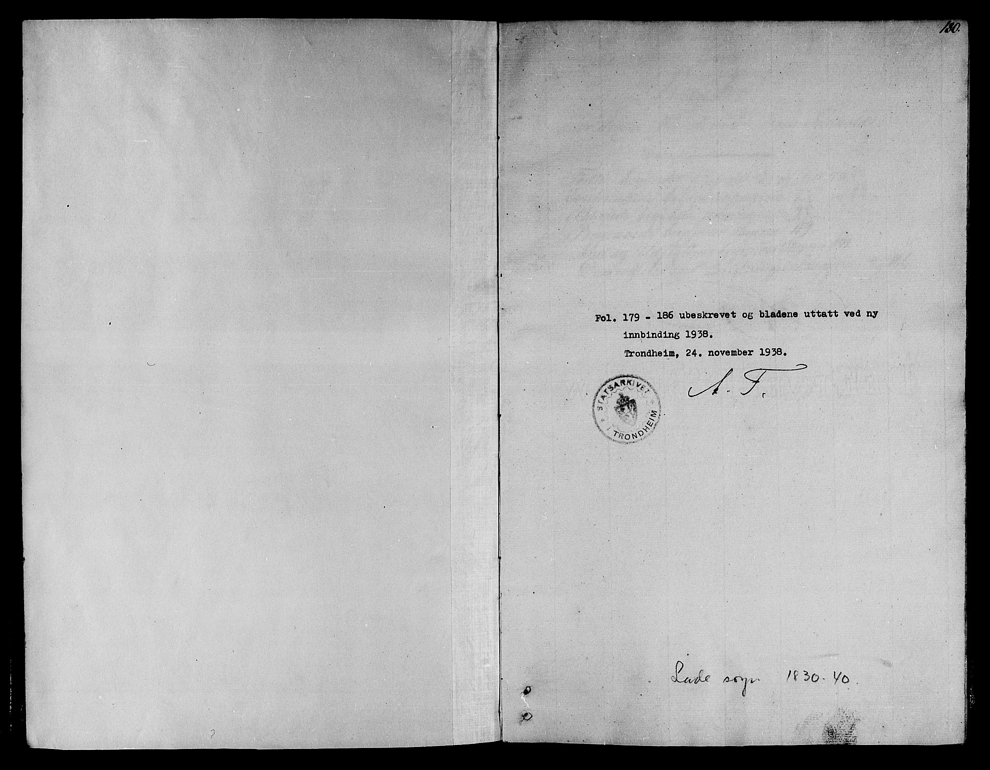 SAT, Ministerialprotokoller, klokkerbøker og fødselsregistre - Sør-Trøndelag, 606/L0308: Klokkerbok nr. 606C04, 1829-1840, s. 180