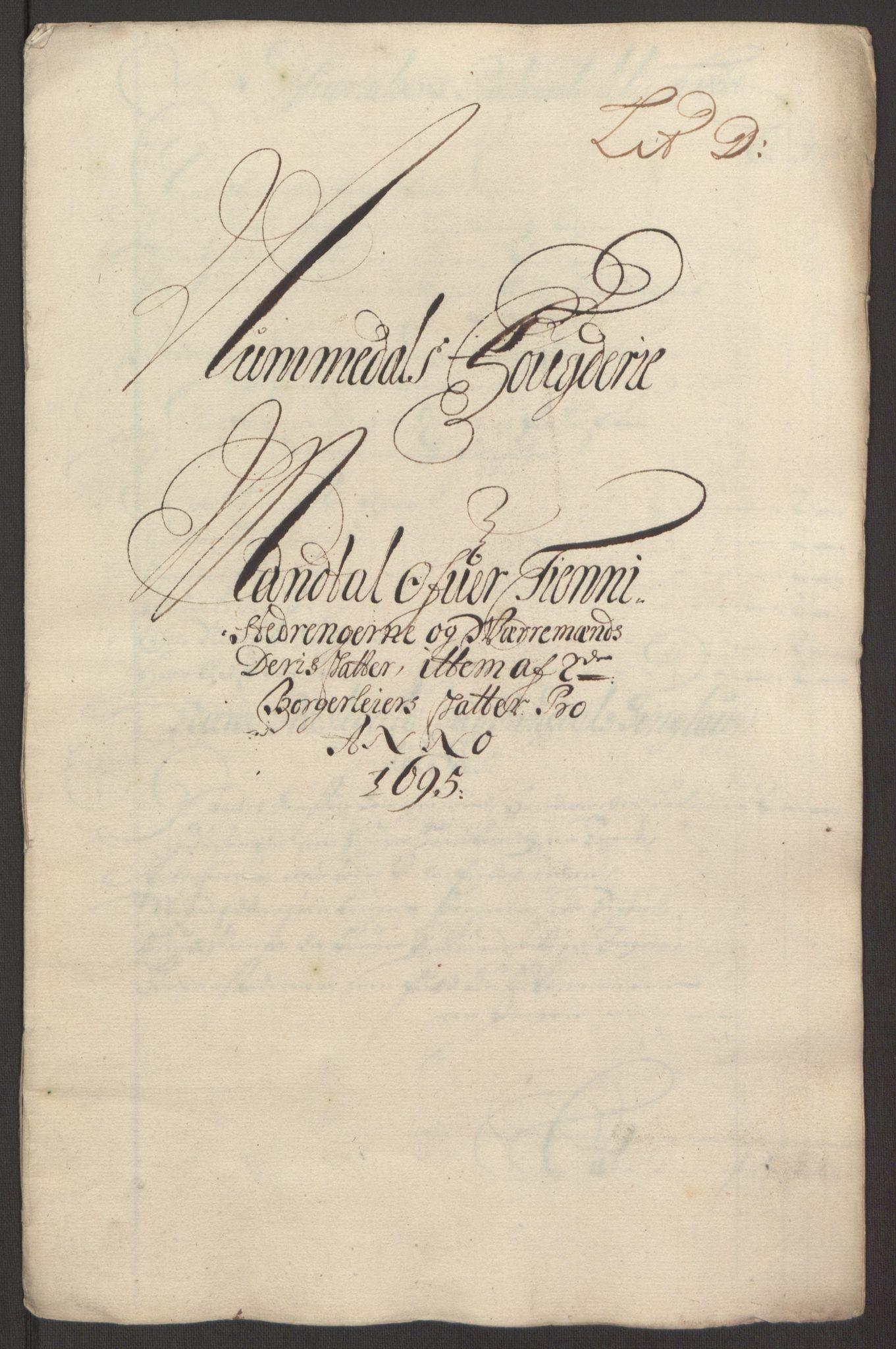 RA, Rentekammeret inntil 1814, Reviderte regnskaper, Fogderegnskap, R64/L4424: Fogderegnskap Namdal, 1692-1695, s. 464