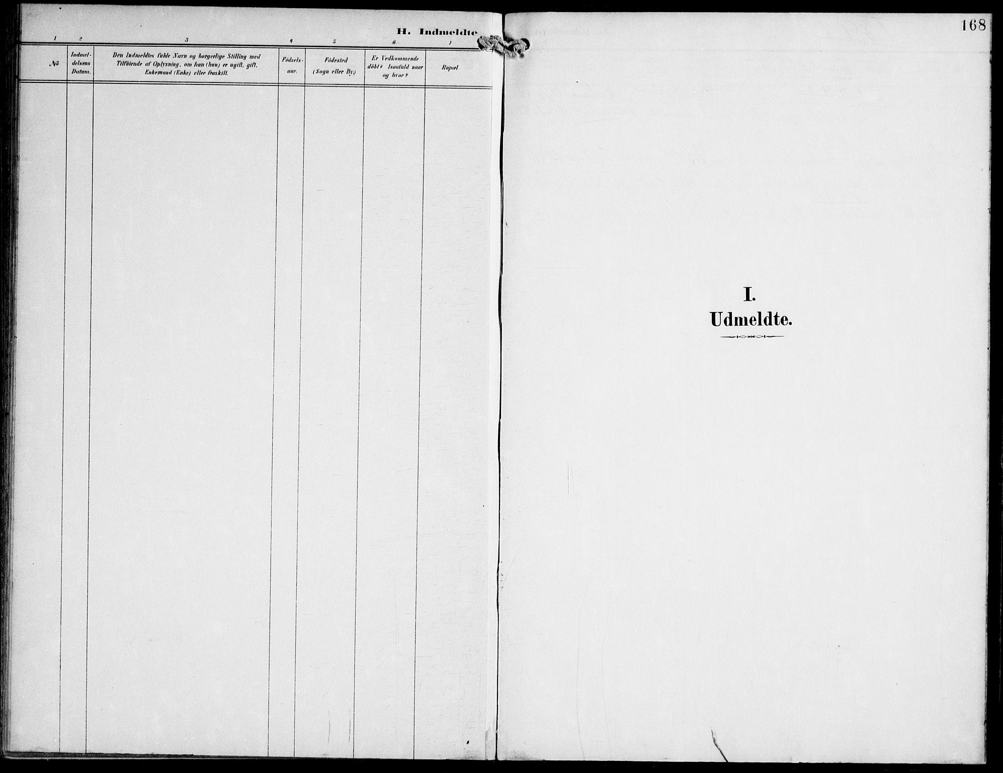 SAT, Ministerialprotokoller, klokkerbøker og fødselsregistre - Nord-Trøndelag, 745/L0430: Ministerialbok nr. 745A02, 1895-1913, s. 168