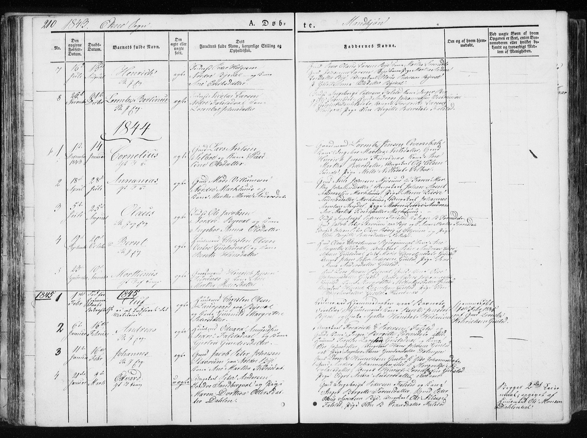 SAT, Ministerialprotokoller, klokkerbøker og fødselsregistre - Nord-Trøndelag, 717/L0154: Ministerialbok nr. 717A06 /2, 1836-1849, s. 210