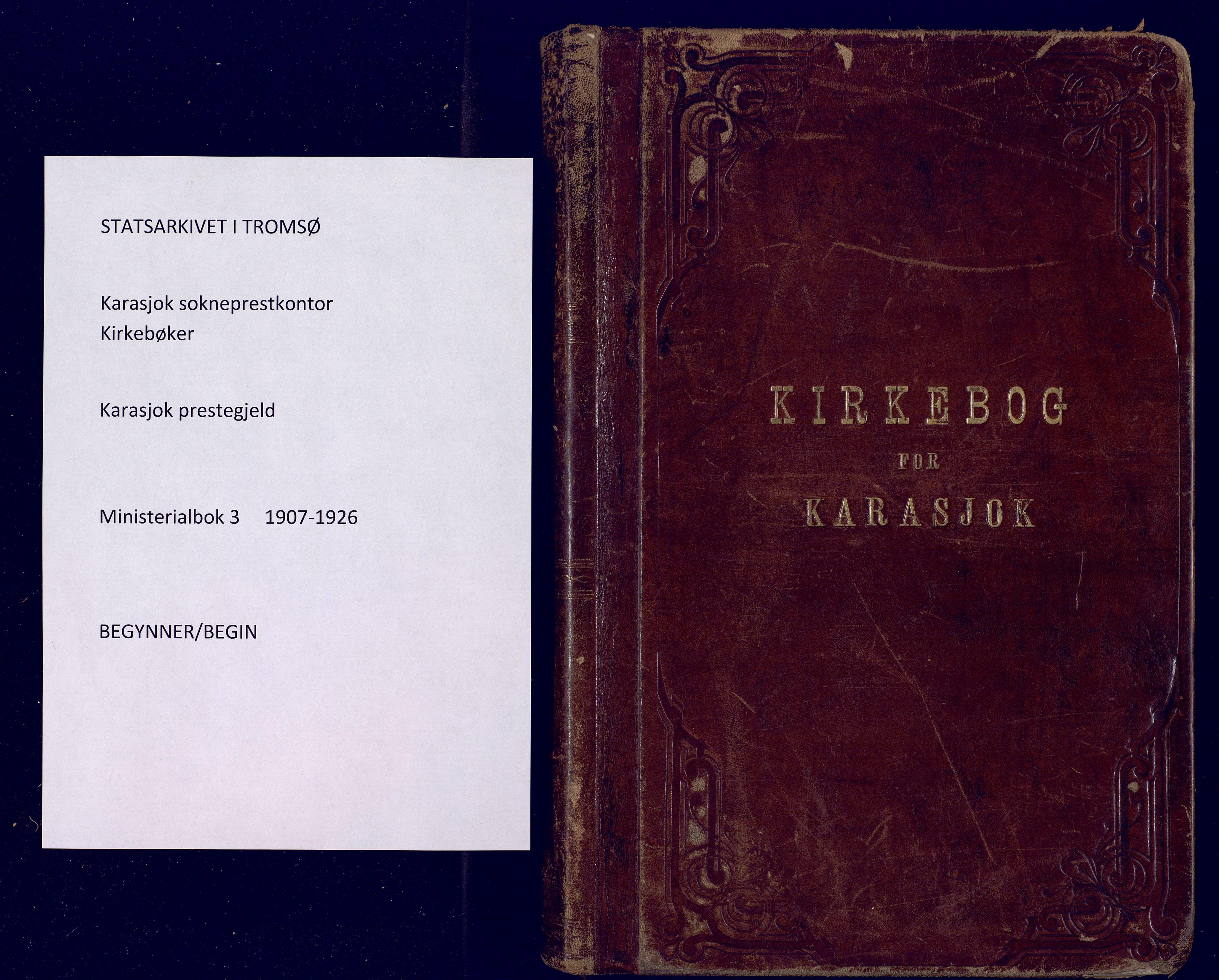 SATØ, Karasjok sokneprestkontor, H/Ha: Ministerialbok nr. 3, 1907-1926