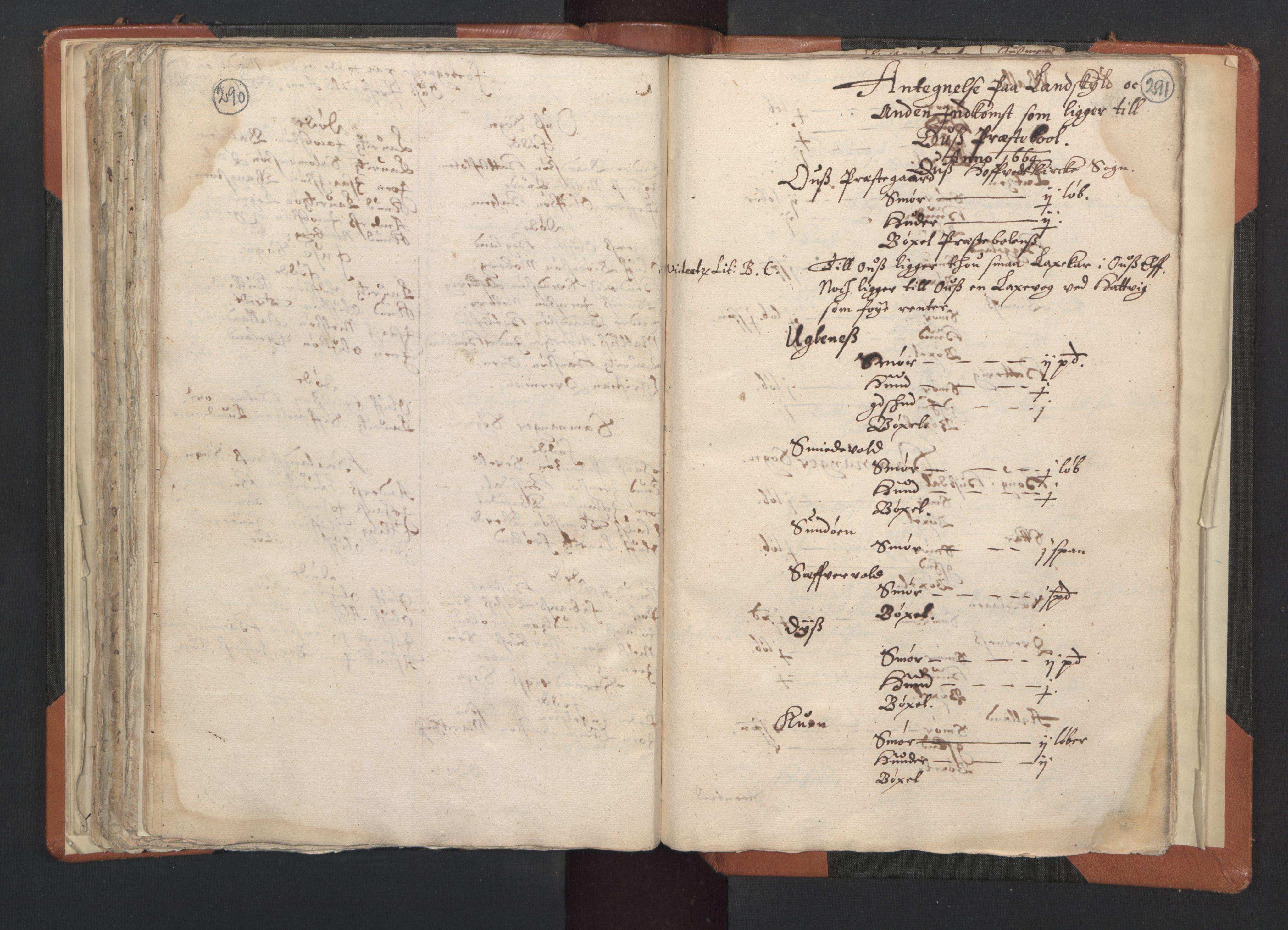 RA, Sogneprestenes manntall 1664-1666, nr. 20: Sunnhordland prosti, 1664-1666, s. 290-291