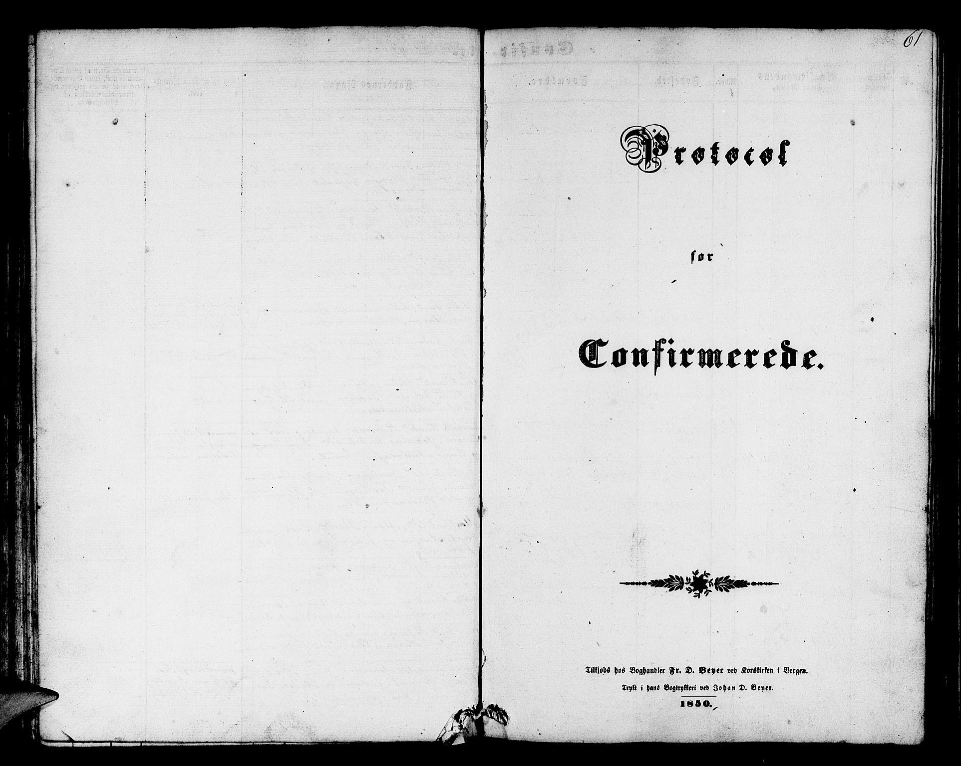 SAB, Askøy Sokneprestembete, H/Ha/Hab/Haba/L0004: Klokkerbok nr. A 4, 1852-1864, s. 61