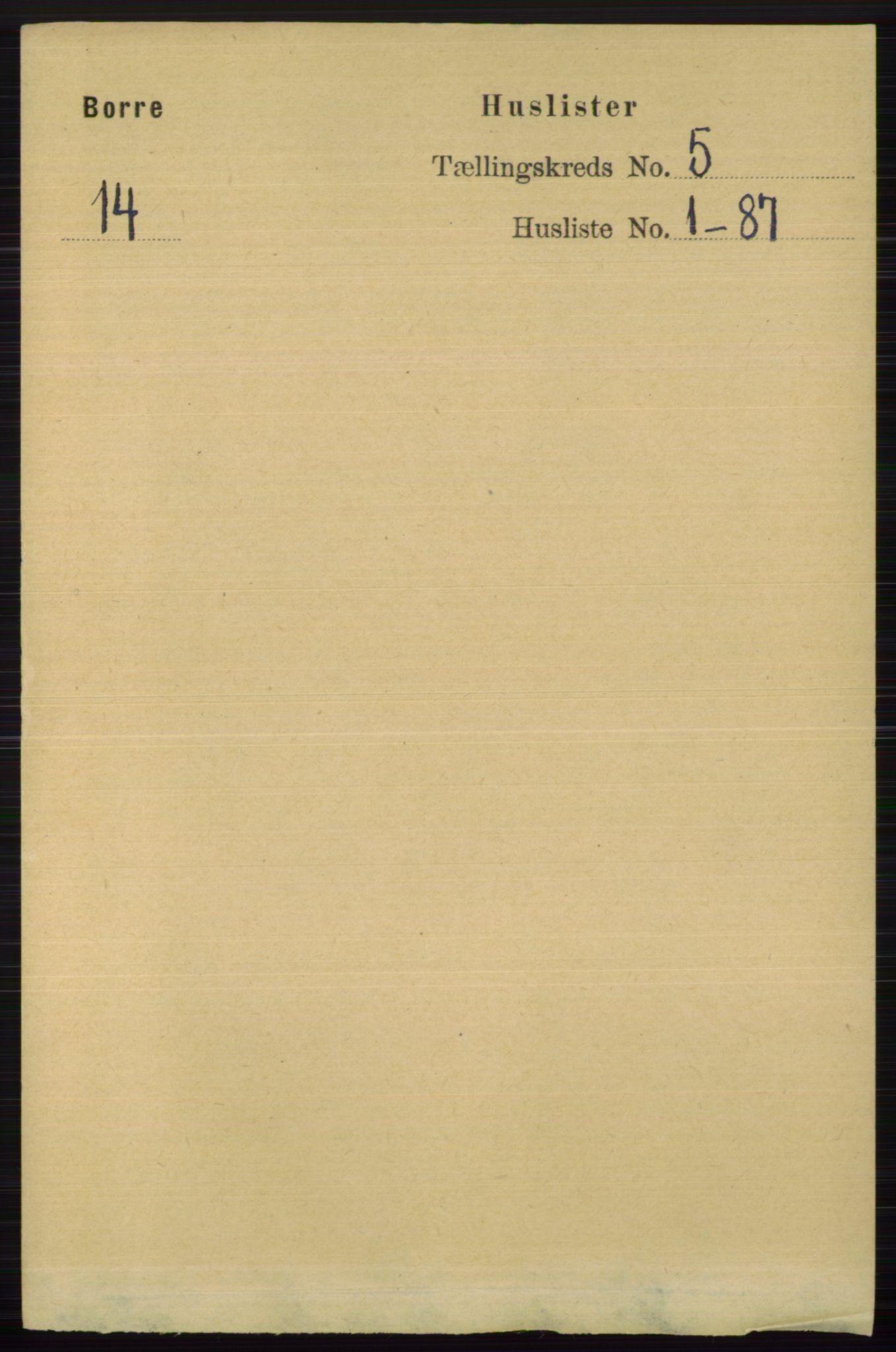 RA, Folketelling 1891 for 0717 Borre herred, 1891, s. 1922