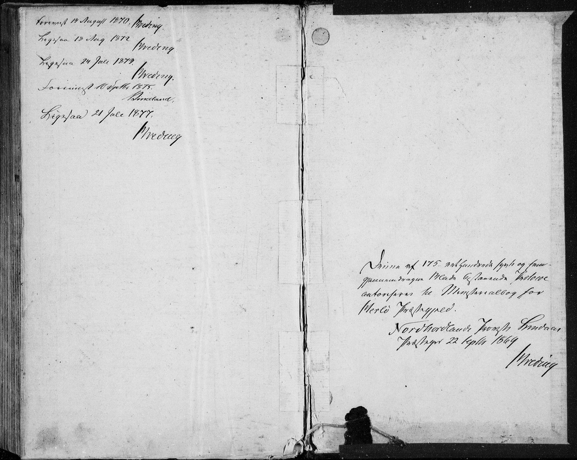 SAB, Herdla Sokneprestembete, H/Haa: Ministerialbok nr. A 2, 1869-1877