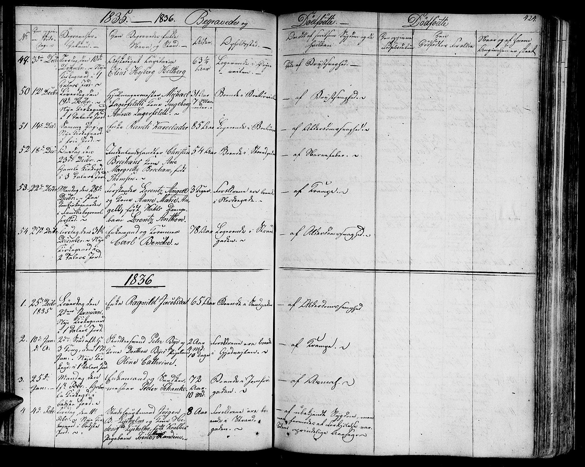 SAT, Ministerialprotokoller, klokkerbøker og fødselsregistre - Sør-Trøndelag, 602/L0109: Ministerialbok nr. 602A07, 1821-1840, s. 424