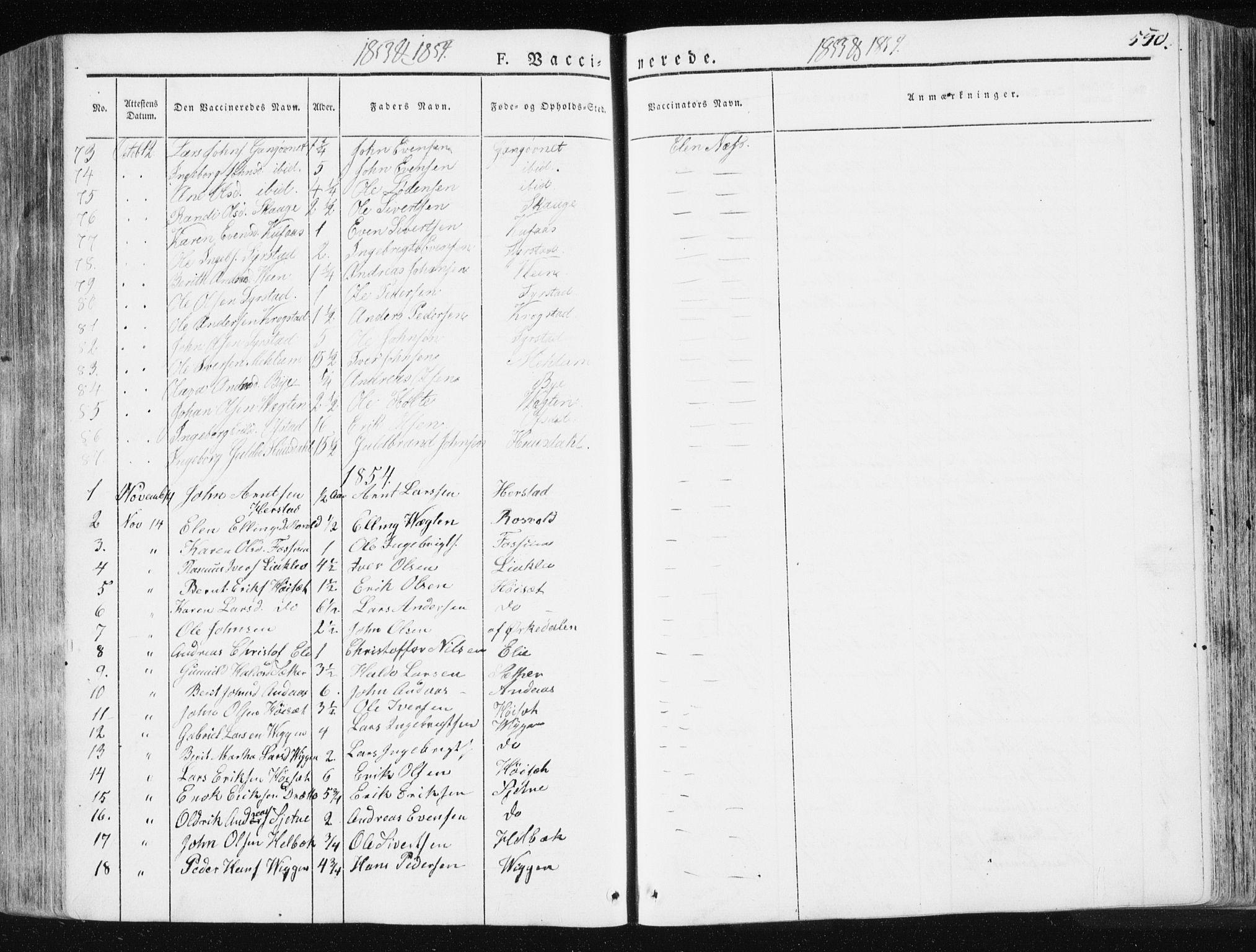 SAT, Ministerialprotokoller, klokkerbøker og fødselsregistre - Sør-Trøndelag, 665/L0771: Ministerialbok nr. 665A06, 1830-1856, s. 550